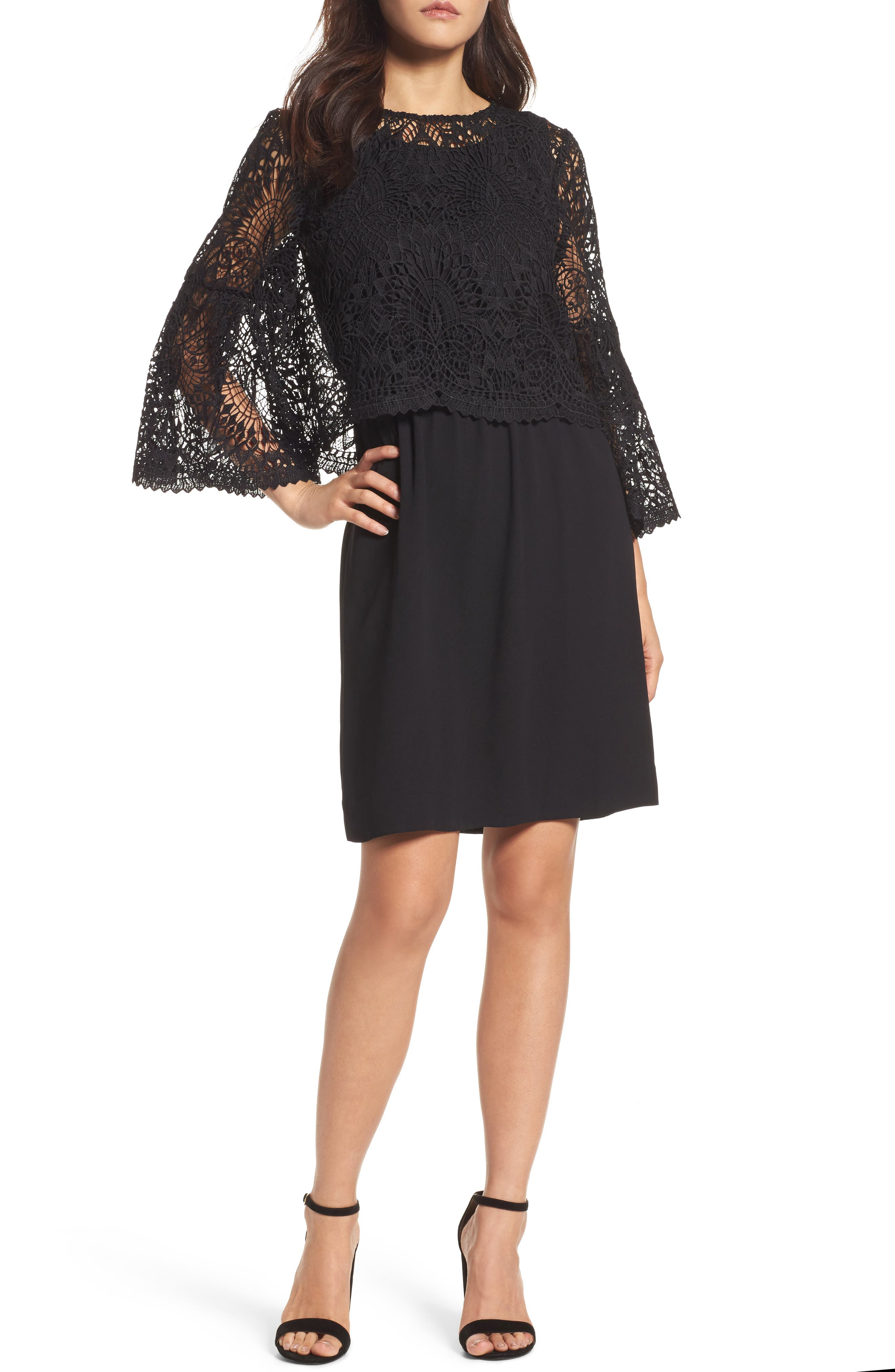 Kobi Halperin Remi Lace Bodice Shift Dress
