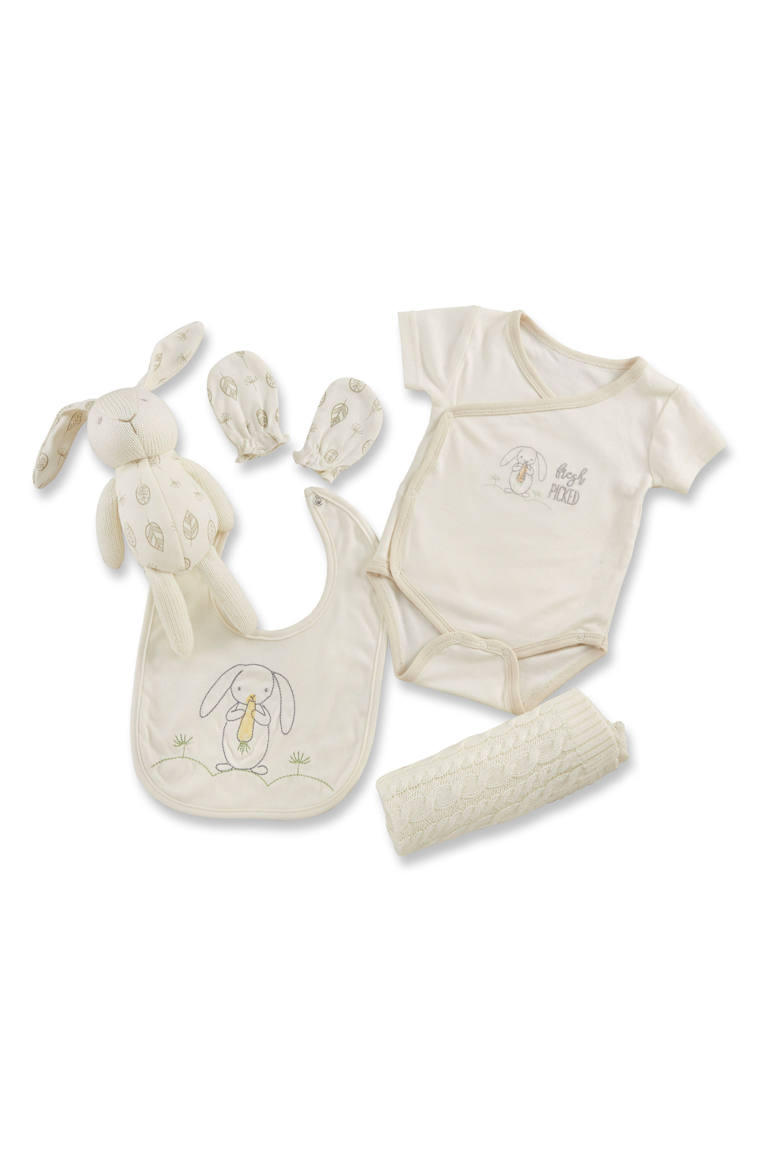 Nature Baby Welcome Home Gift Set,                         Main,                         color, Beige And Grey