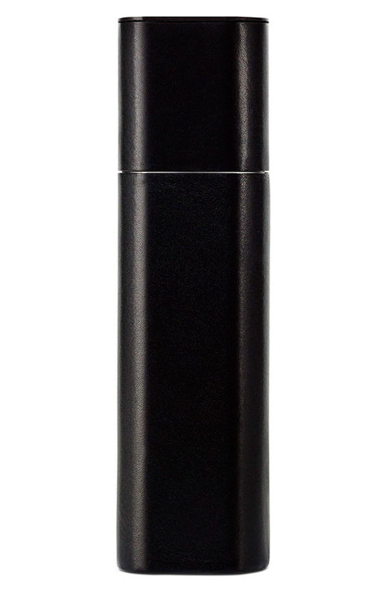 Necessaire de Voyage Black Leather Travel Case,                         Main,                         color, No Color