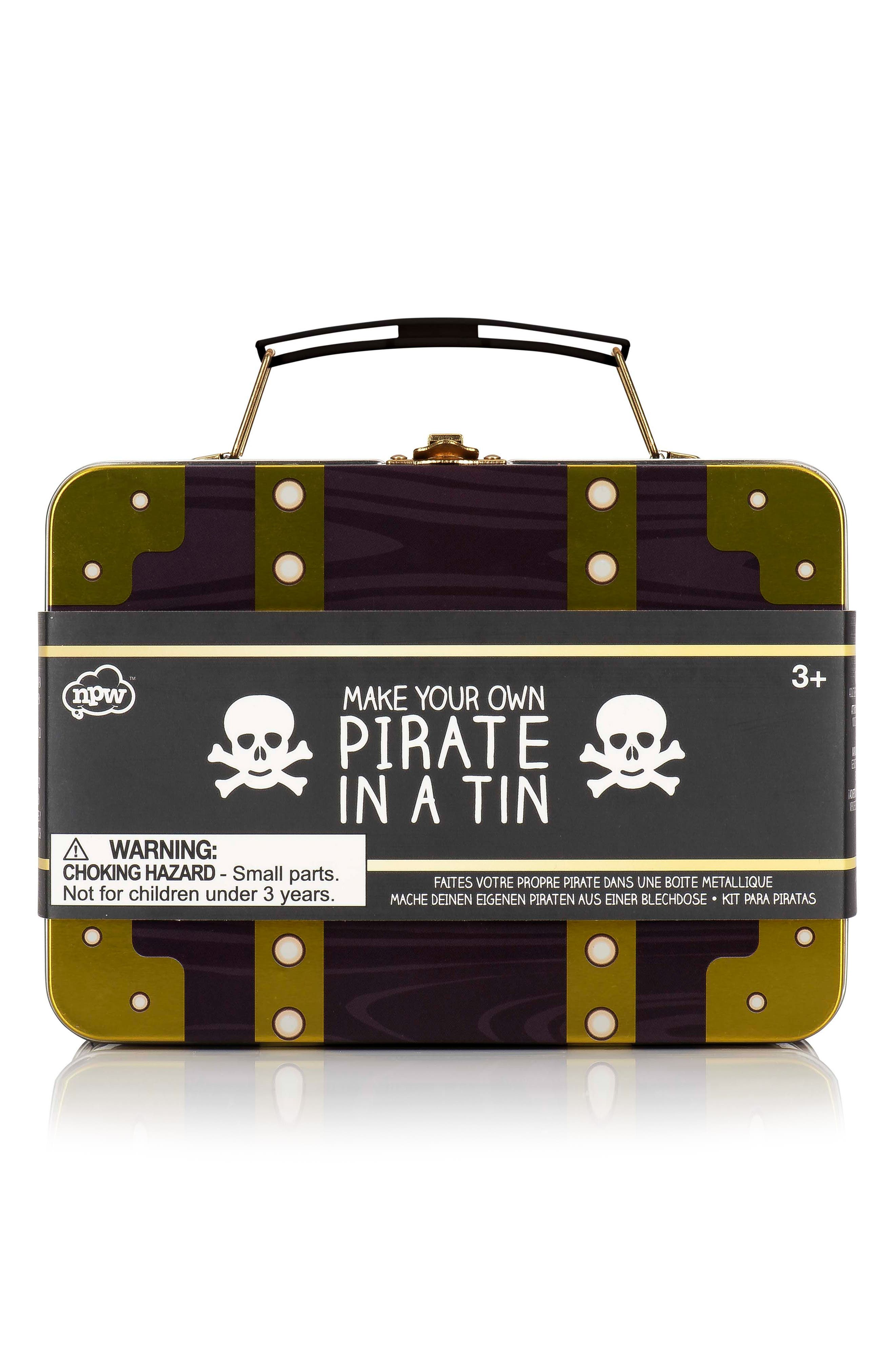 Pirate in a Tin Play Set,                         Main,                         color, Multi