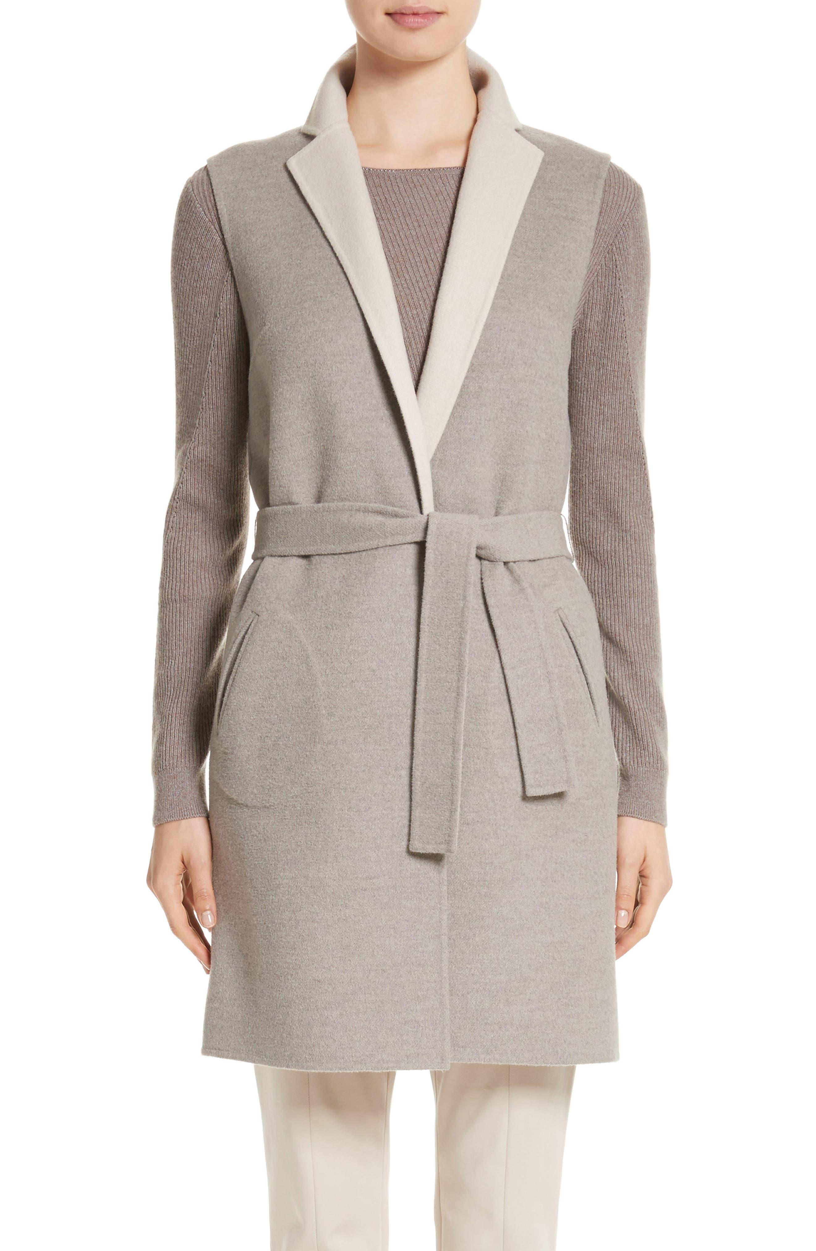 Main Image - St. John Collection Double Face Reversible Vest