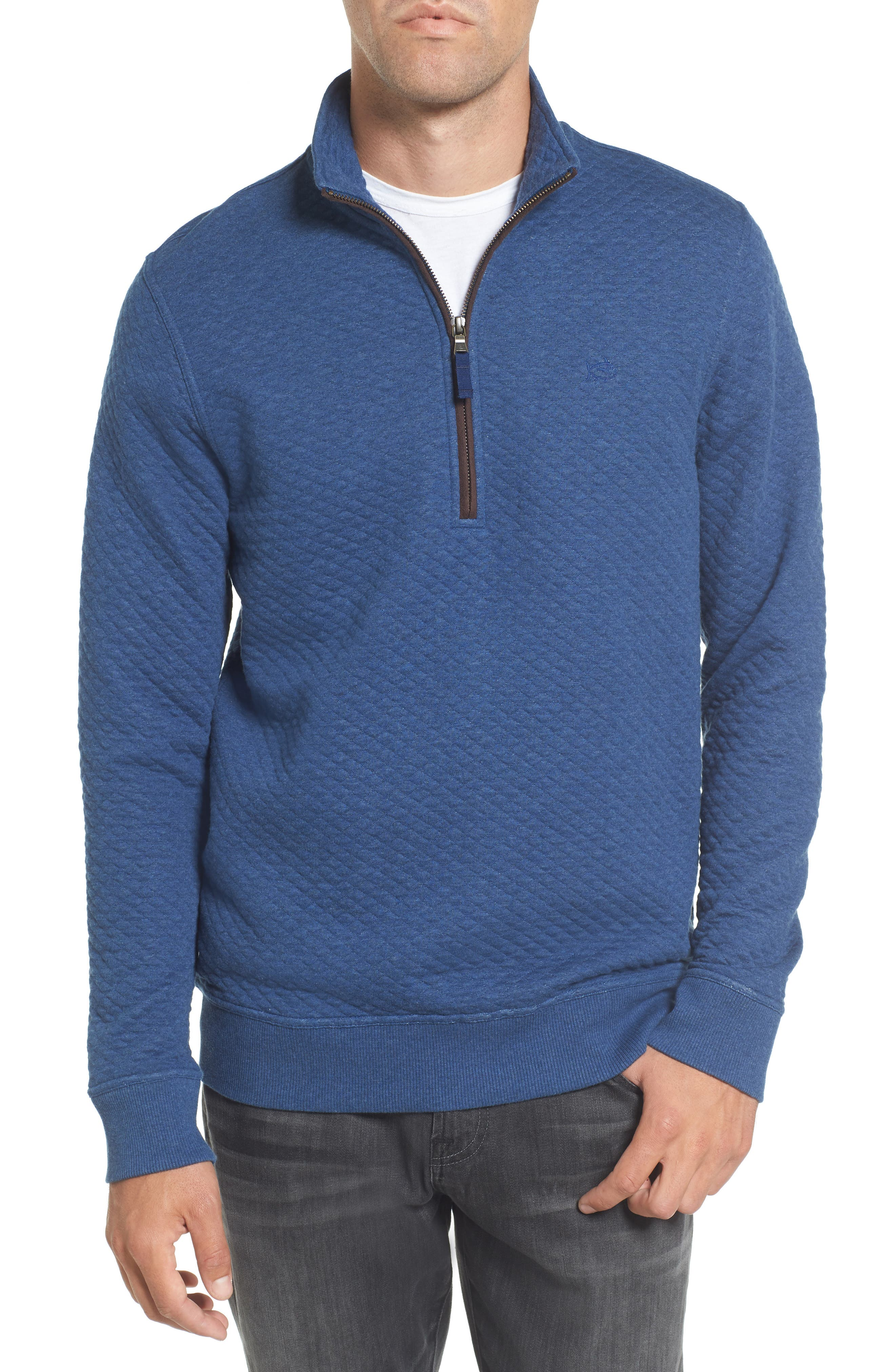 Alternate Image 1 Selected - Southern Tide Sundown Quilted Quarter Zip Pullover
