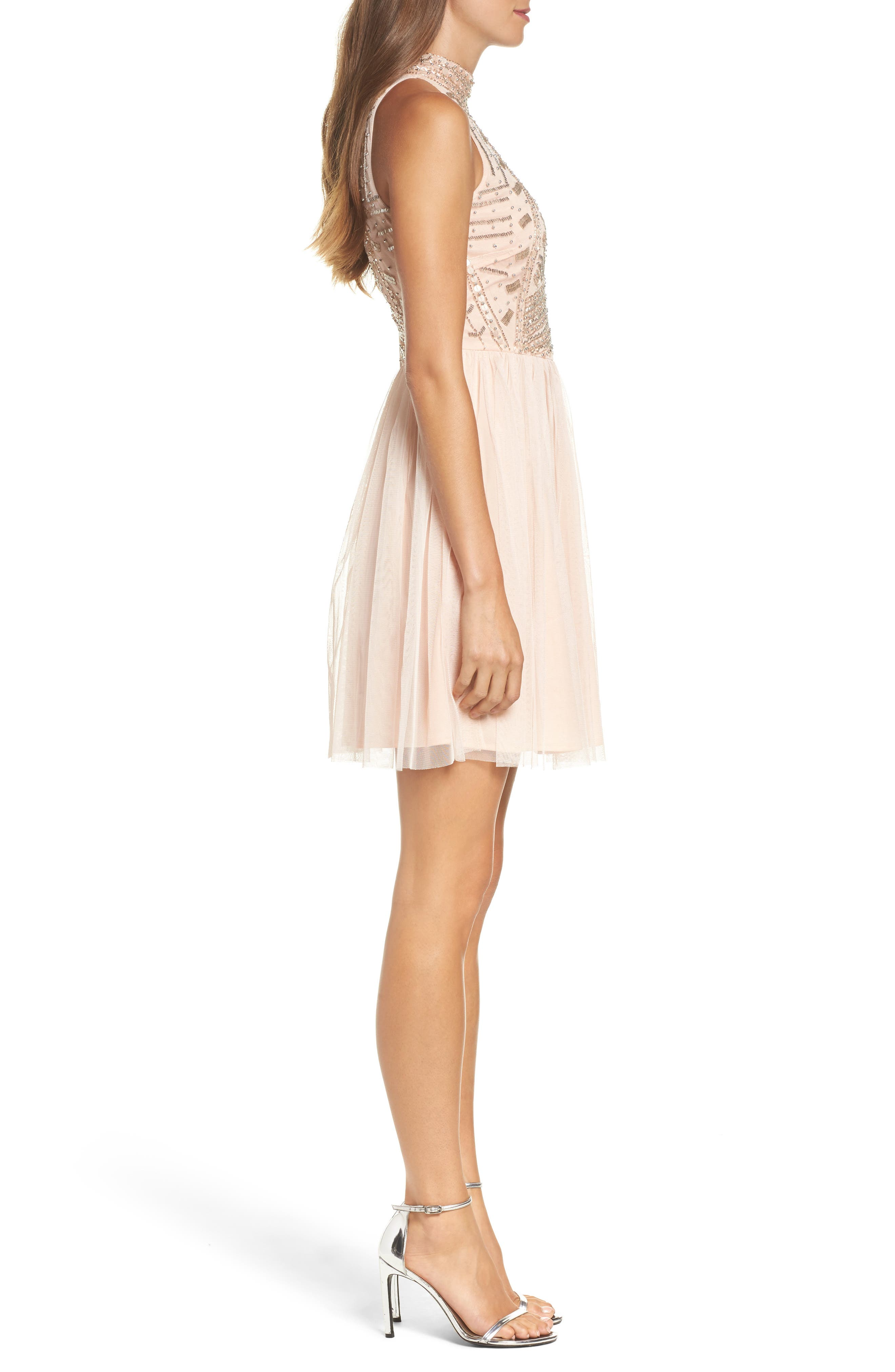 Alternate Image 3  - Lace & Beads Wren Beaded Skater Dress