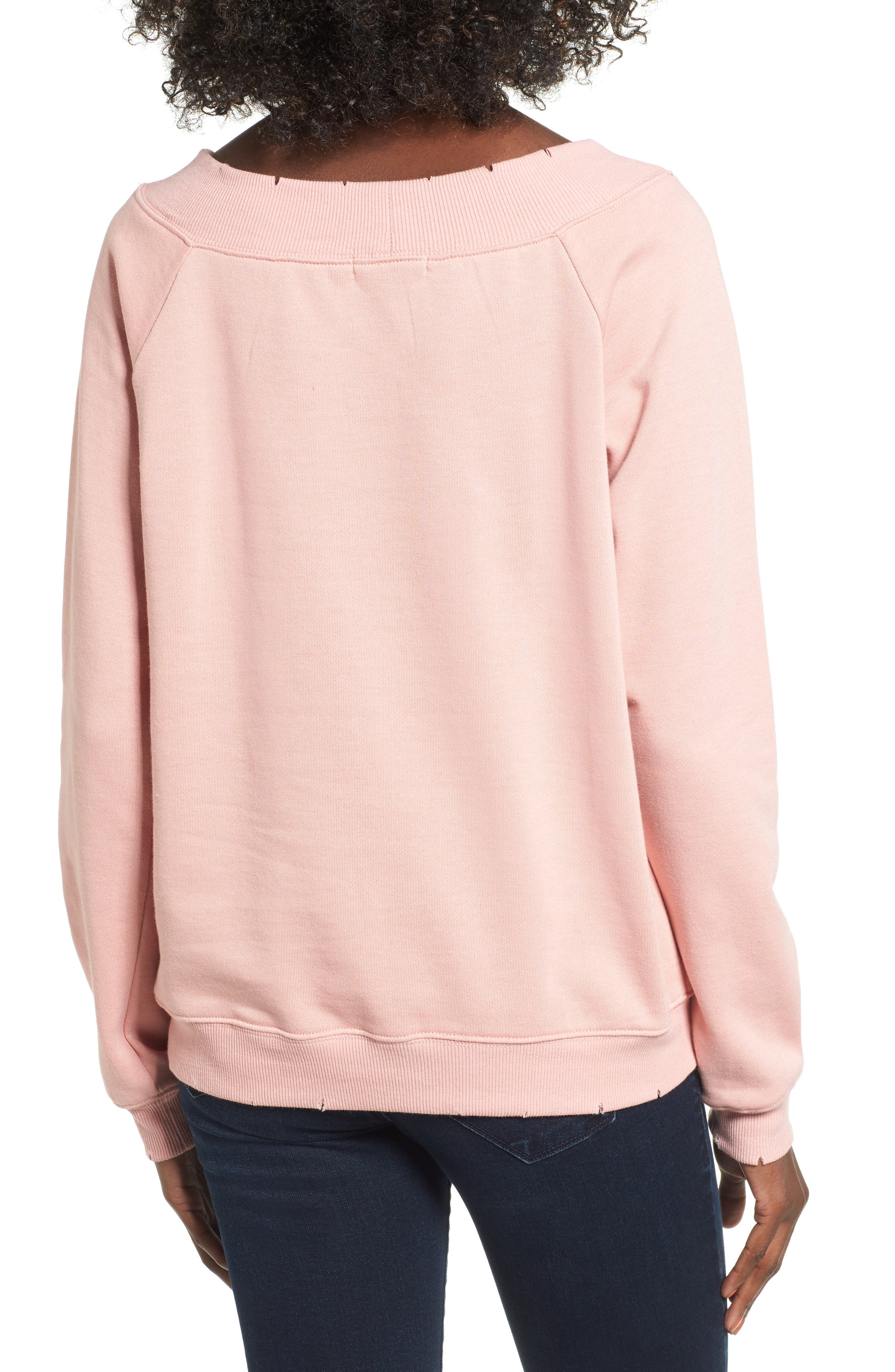 Alternate Image 2  - Socialite Cut Edge Sweatshirt