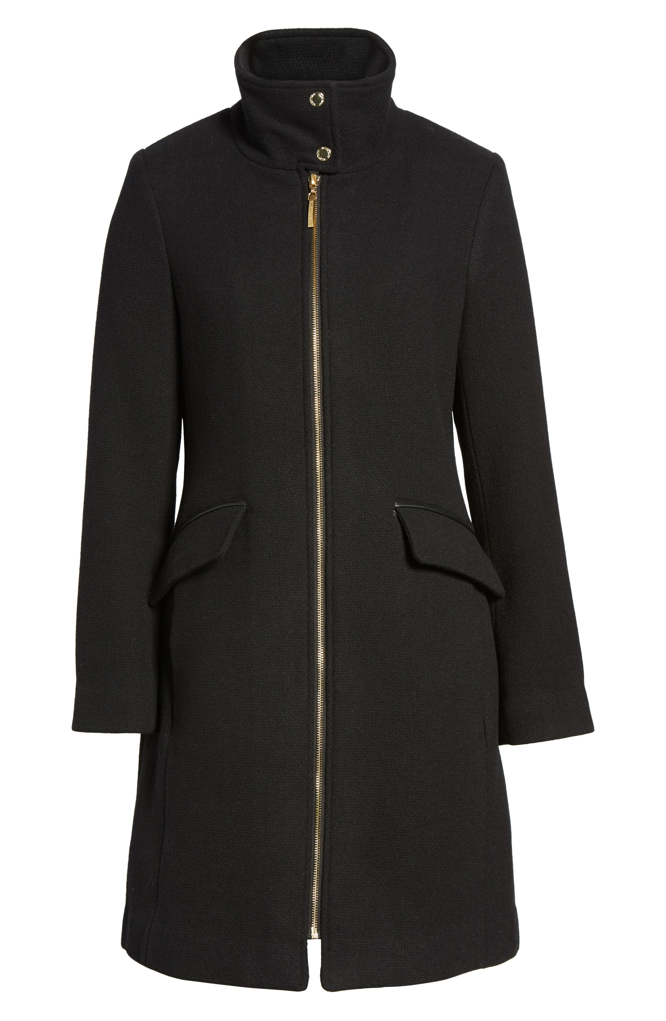 A-Line Coat,                             Alternate thumbnail 5, color,                             Black