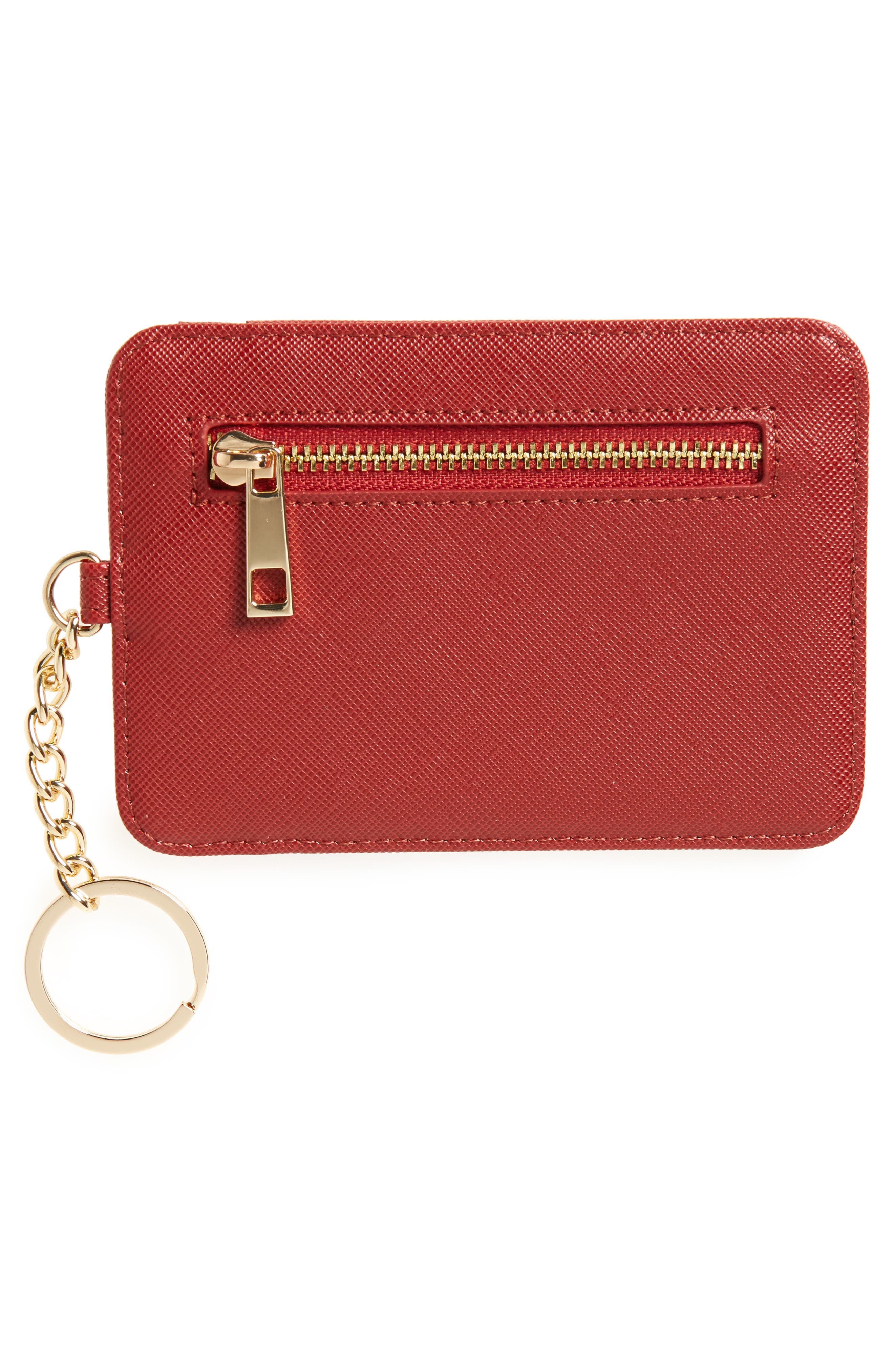 Alternate Image 2  - BP. Faux Leather Zip Key Chain Card Case