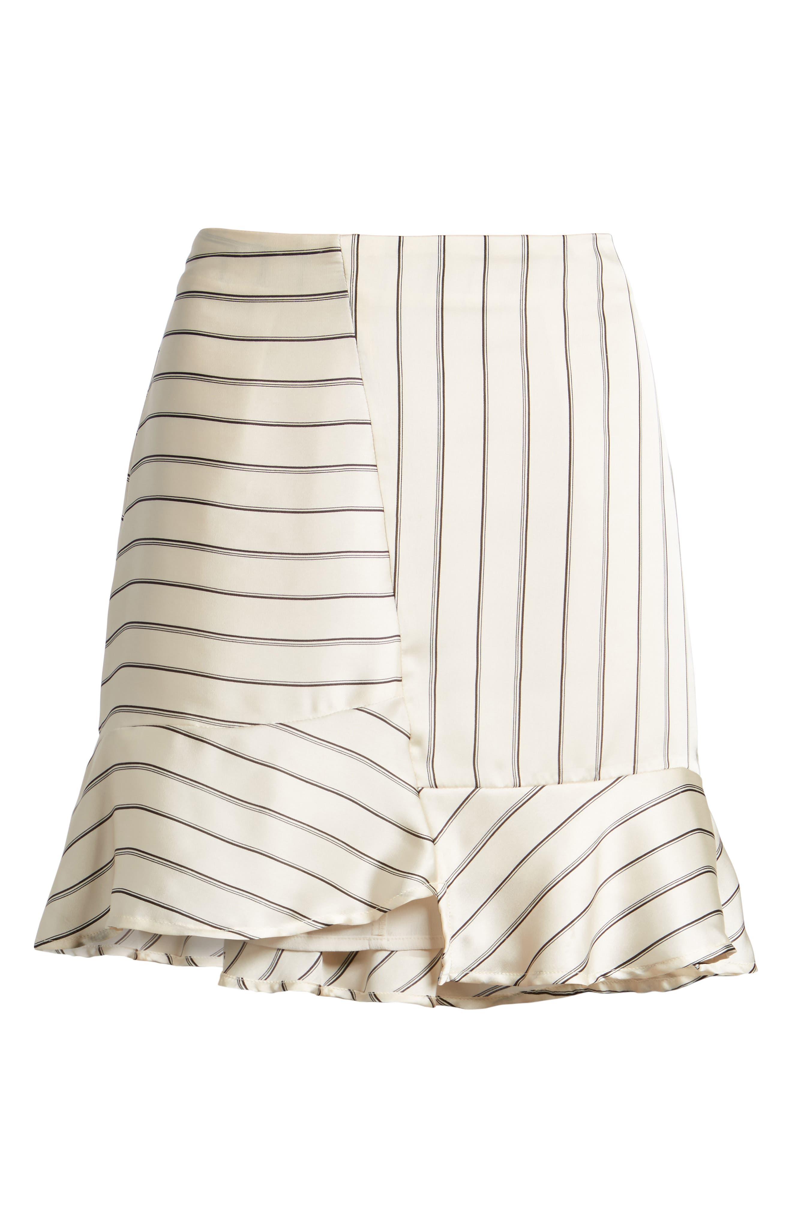 Alternate Image 6  - J.O.A. Ruffle Pinstripe Skirt