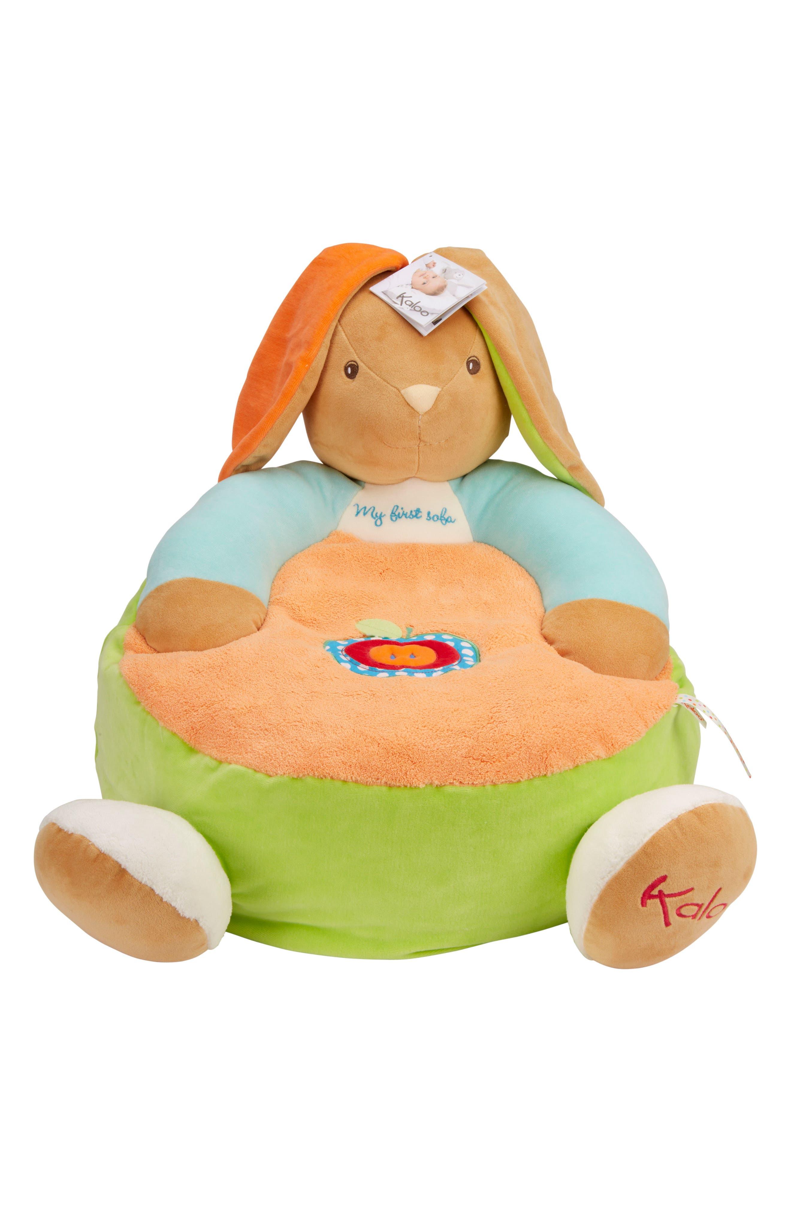 Rabbit Sofa Stuffed Animal,                         Main,                         color, Multi