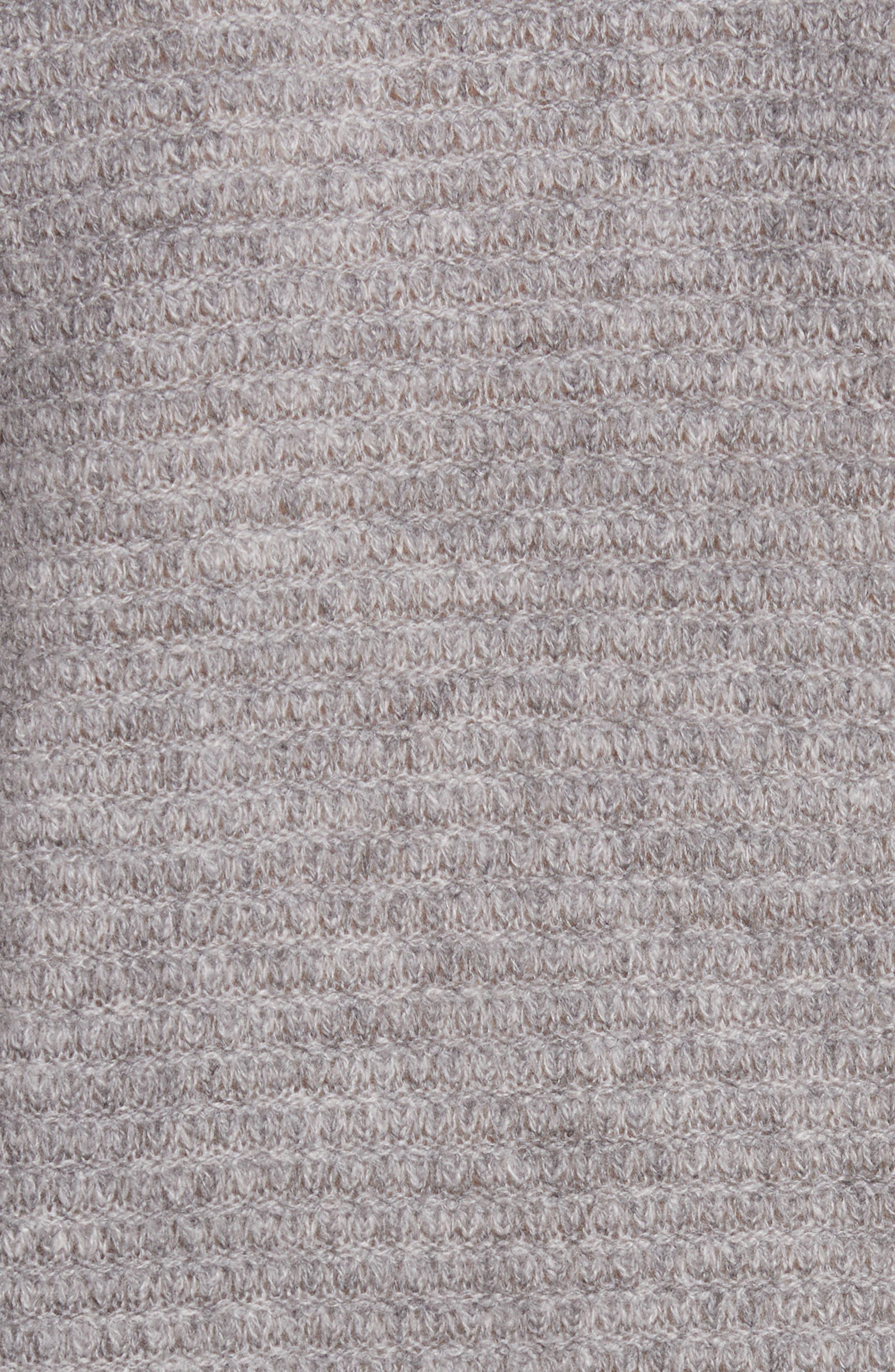 Cashmere V-Neck Sweater,                             Alternate thumbnail 5, color,                             Grey Marl