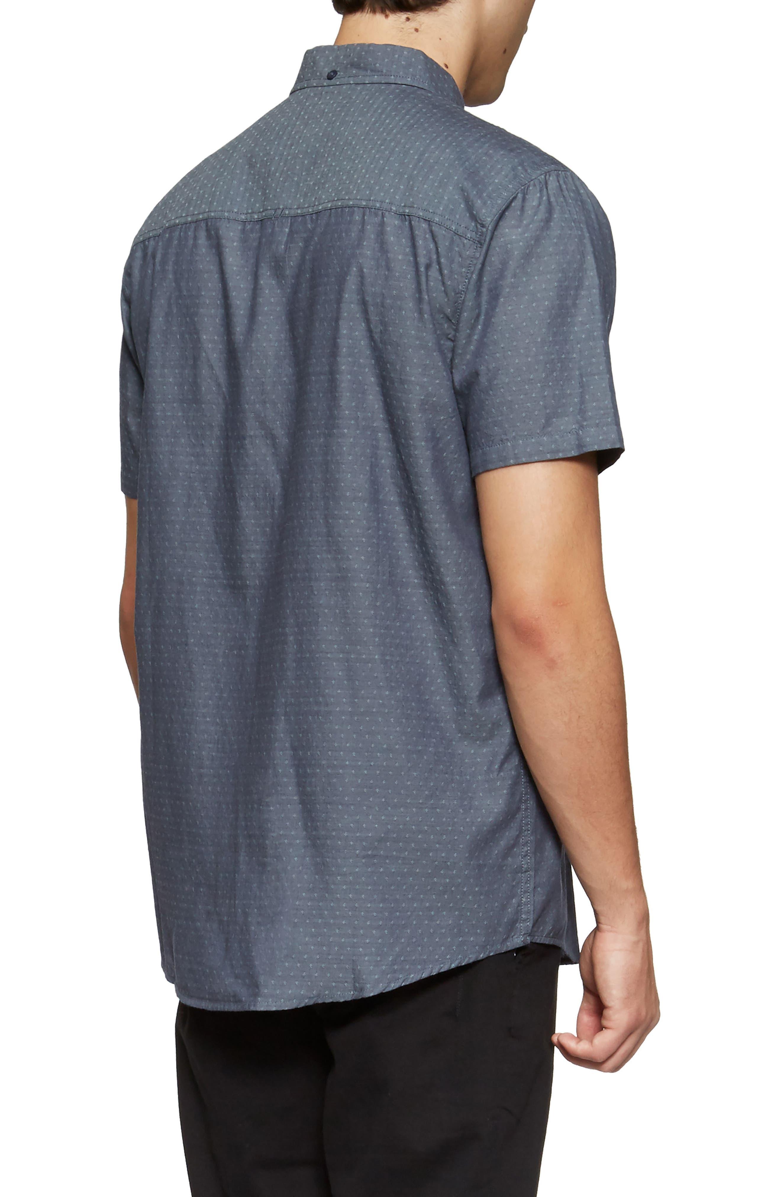 Clarke Woven Shirt,                             Alternate thumbnail 2, color,                             Shadow Blue Link