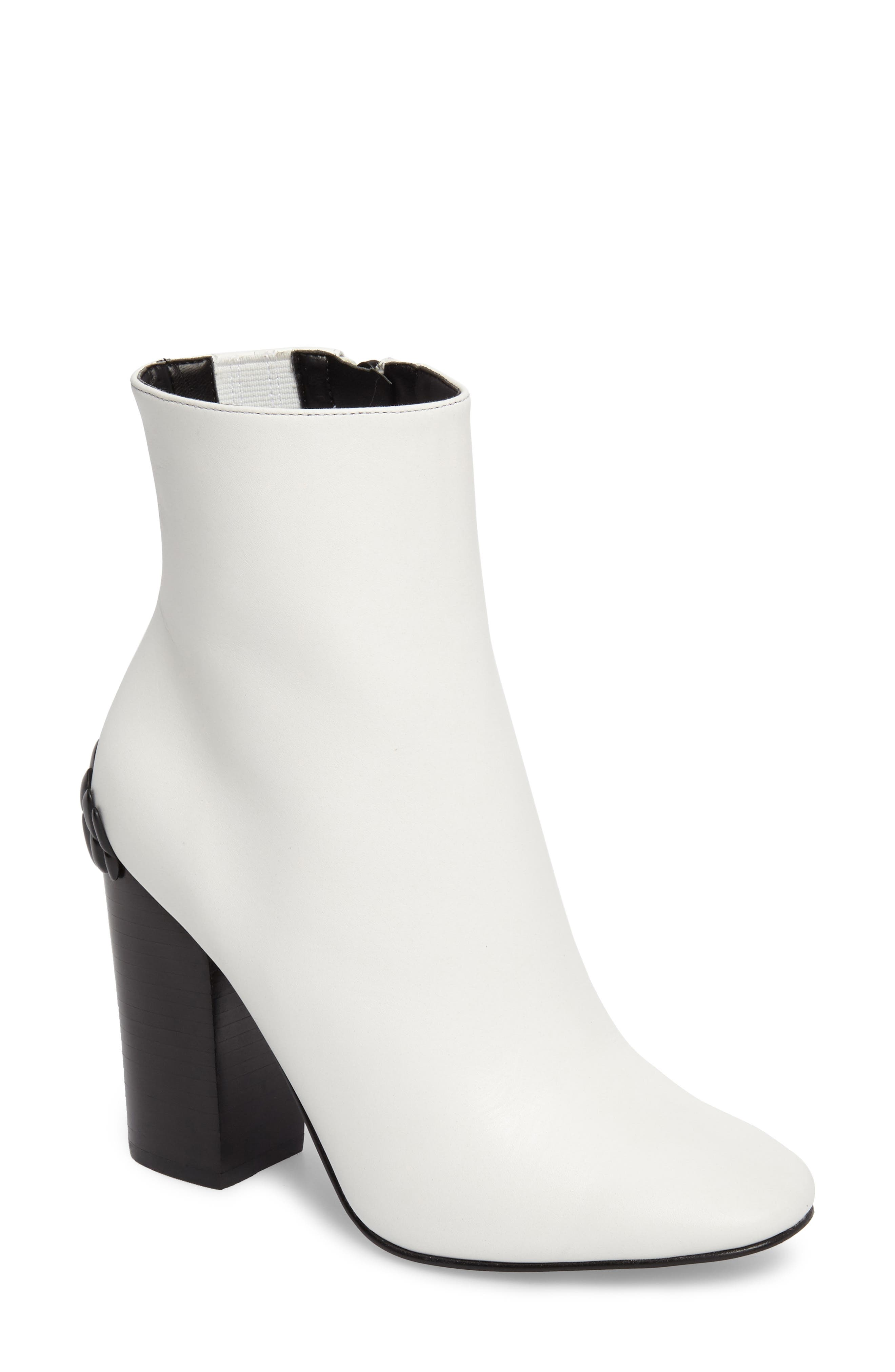 Haedyn Bootie,                             Main thumbnail 1, color,                             White Leather
