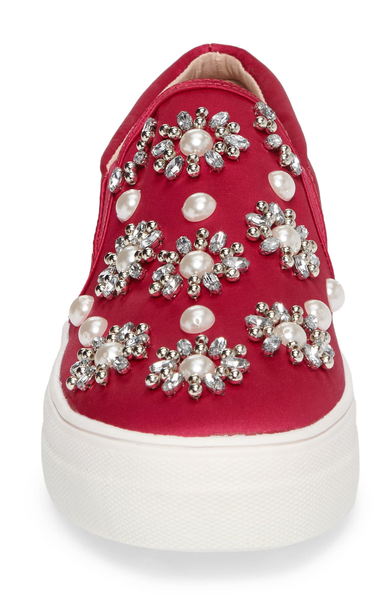 Tilt Embellished Slip-On Sneaker,                             Alternate thumbnail 4, color,                             Pink Multi