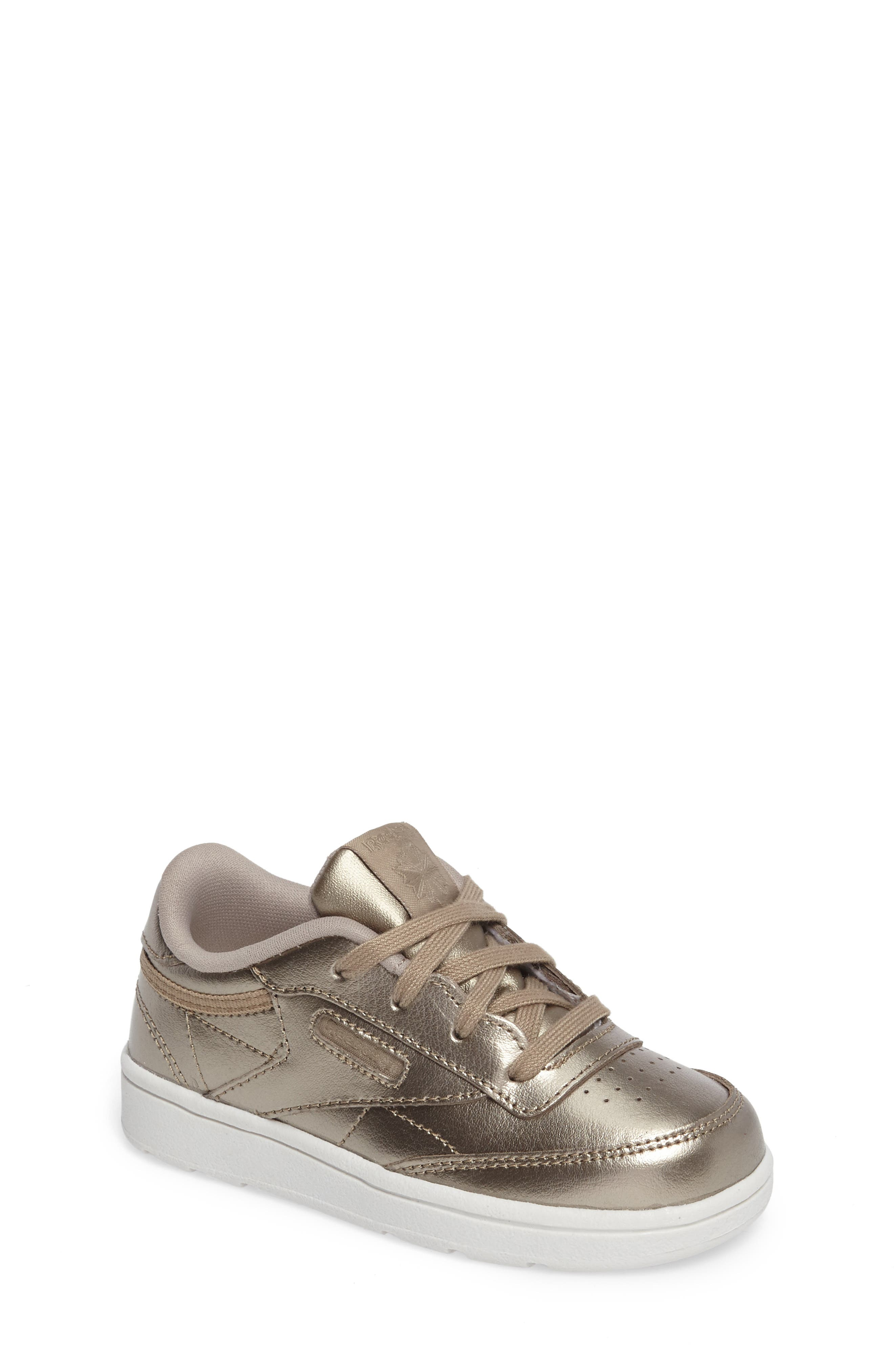 Main Image - Reebok Club C Melted Metallic Sneaker (Baby, Walker & Toddler)