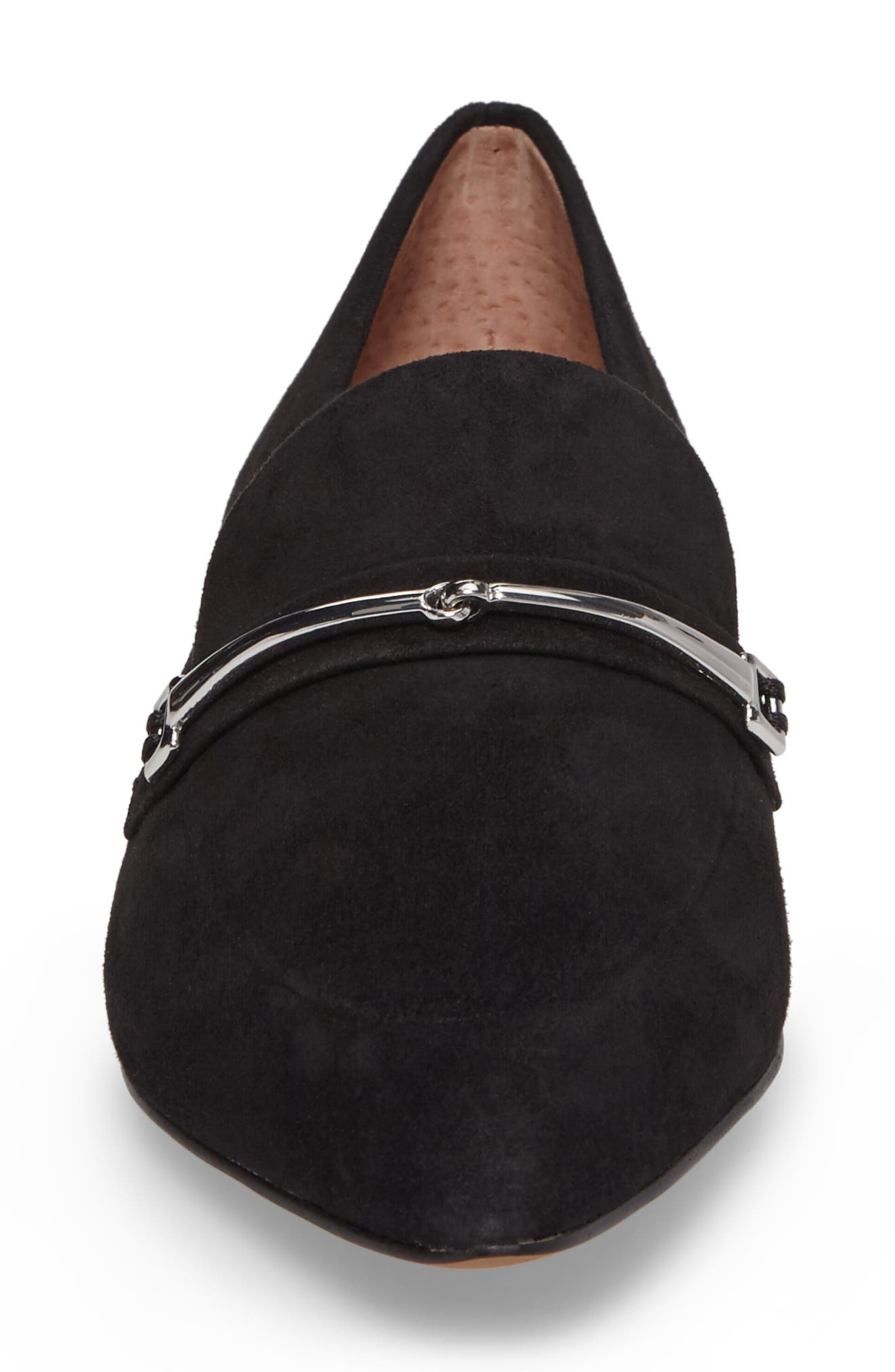 Molly Loafer,                             Alternate thumbnail 4, color,                             Black Suede