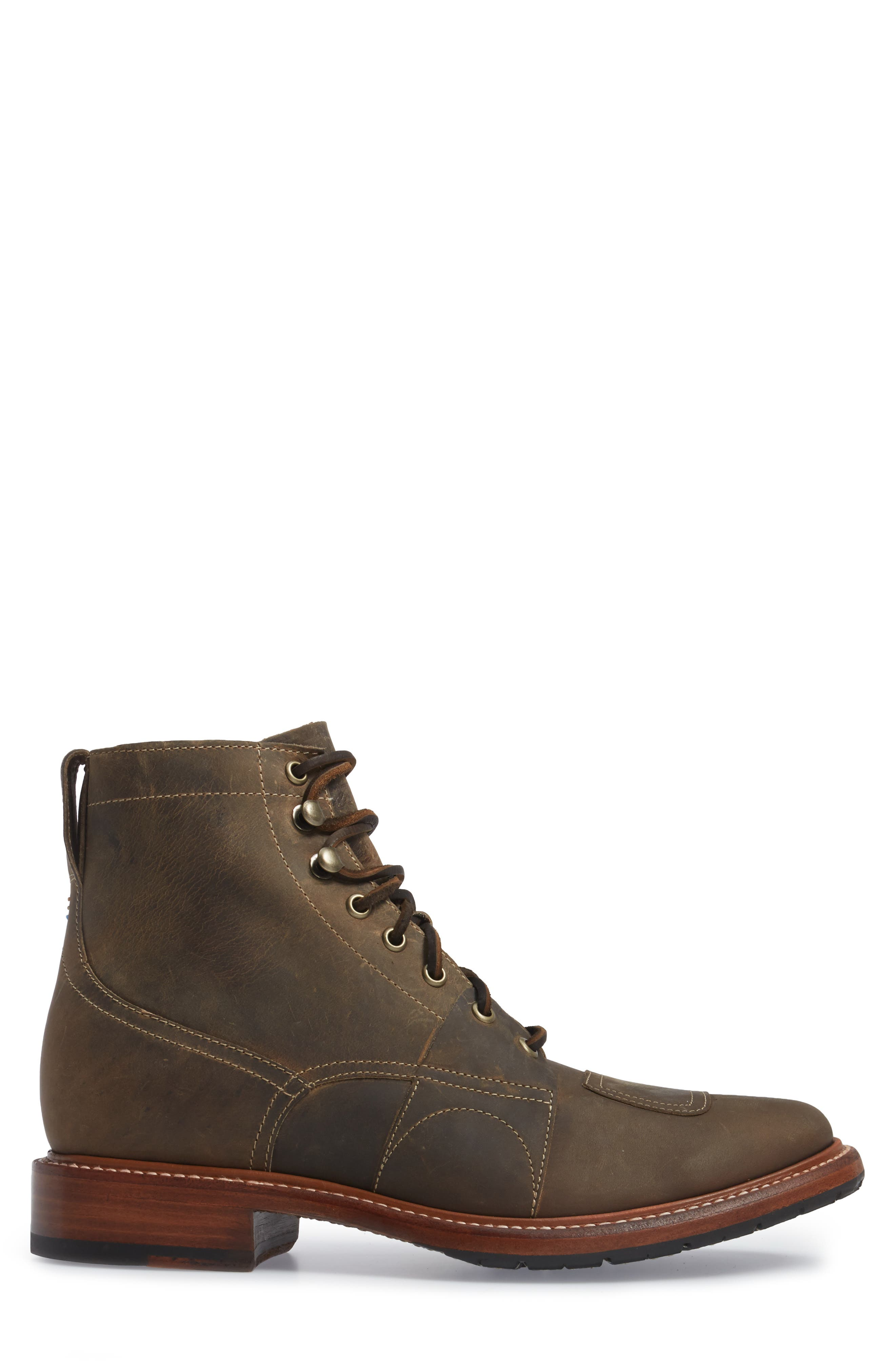 Cypress Plain Toe Boot,                             Alternate thumbnail 3, color,                             Brown Leather