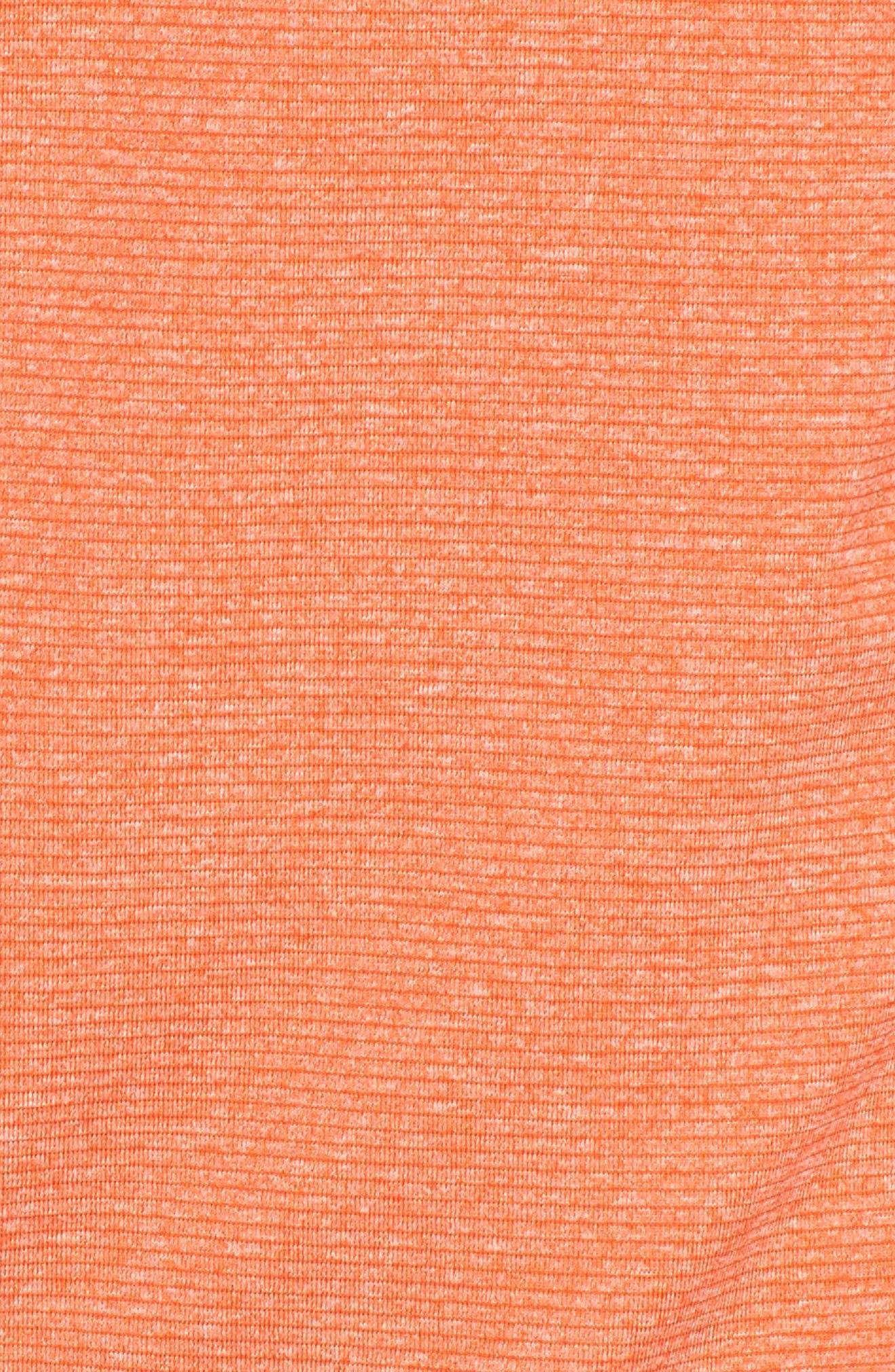 Shoreline - Denver Broncos Half Zip Pullover,                             Alternate thumbnail 5, color,                             College Orange Heather