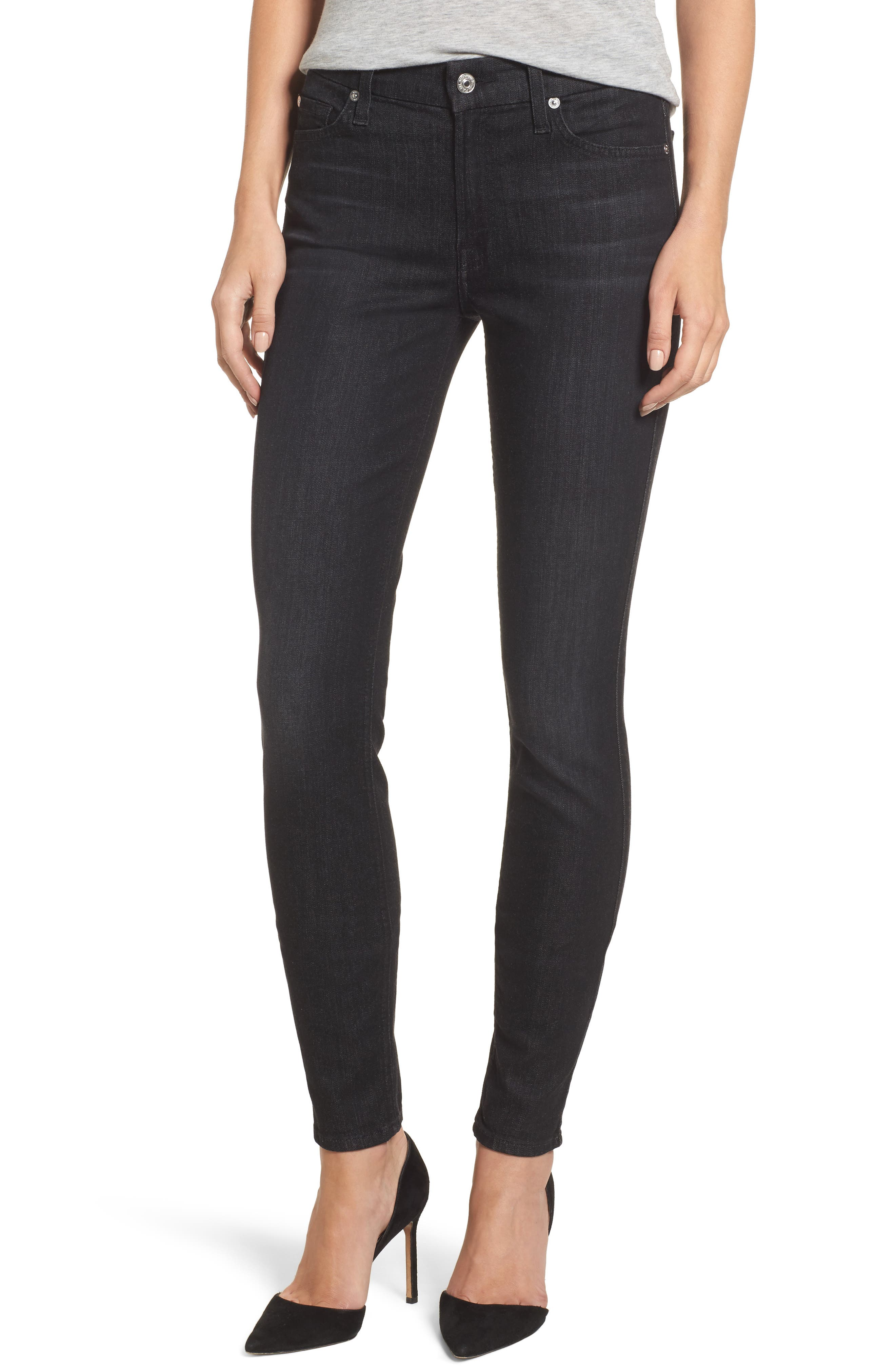 b(air) - The Skinny High Waist Jeans,                             Main thumbnail 1, color,                             Bair Noir