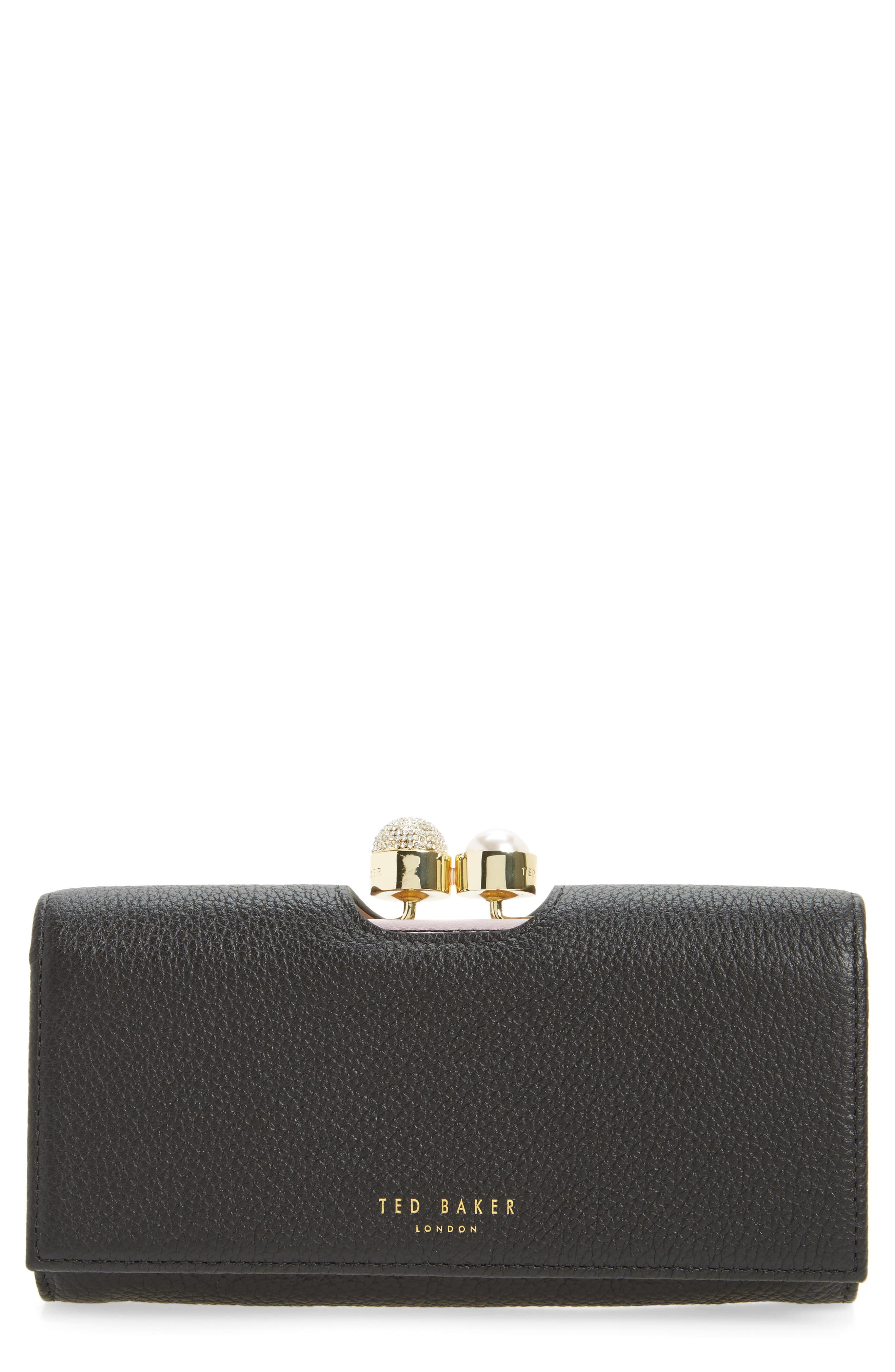 Alternate Image 1 Selected - Ted Baker London Marta Bobble Matinée Leather Wallet