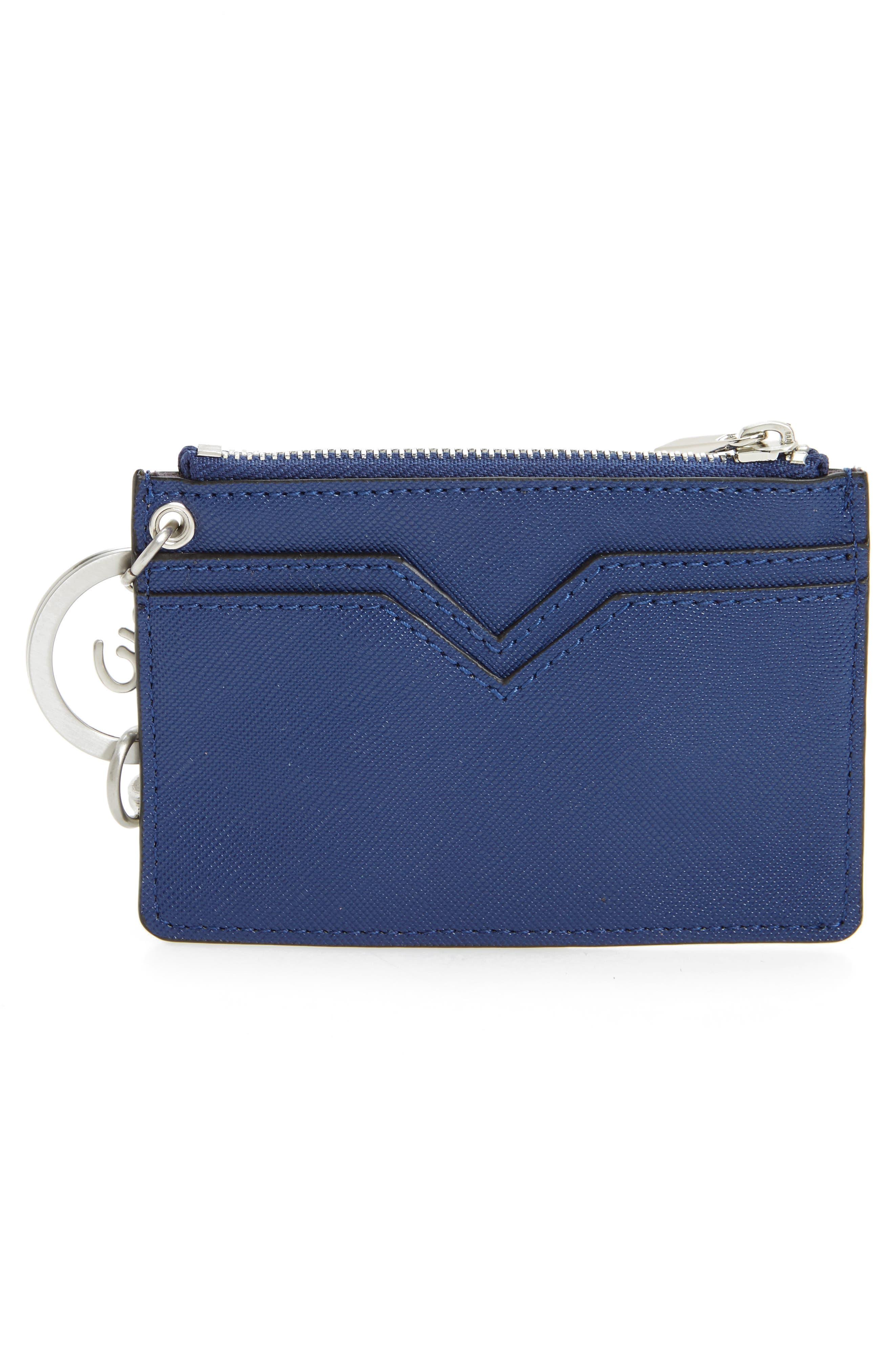 Carter Bird Embellished Faux Leather Card Case,                             Alternate thumbnail 2, color,                             Poseidon Blue