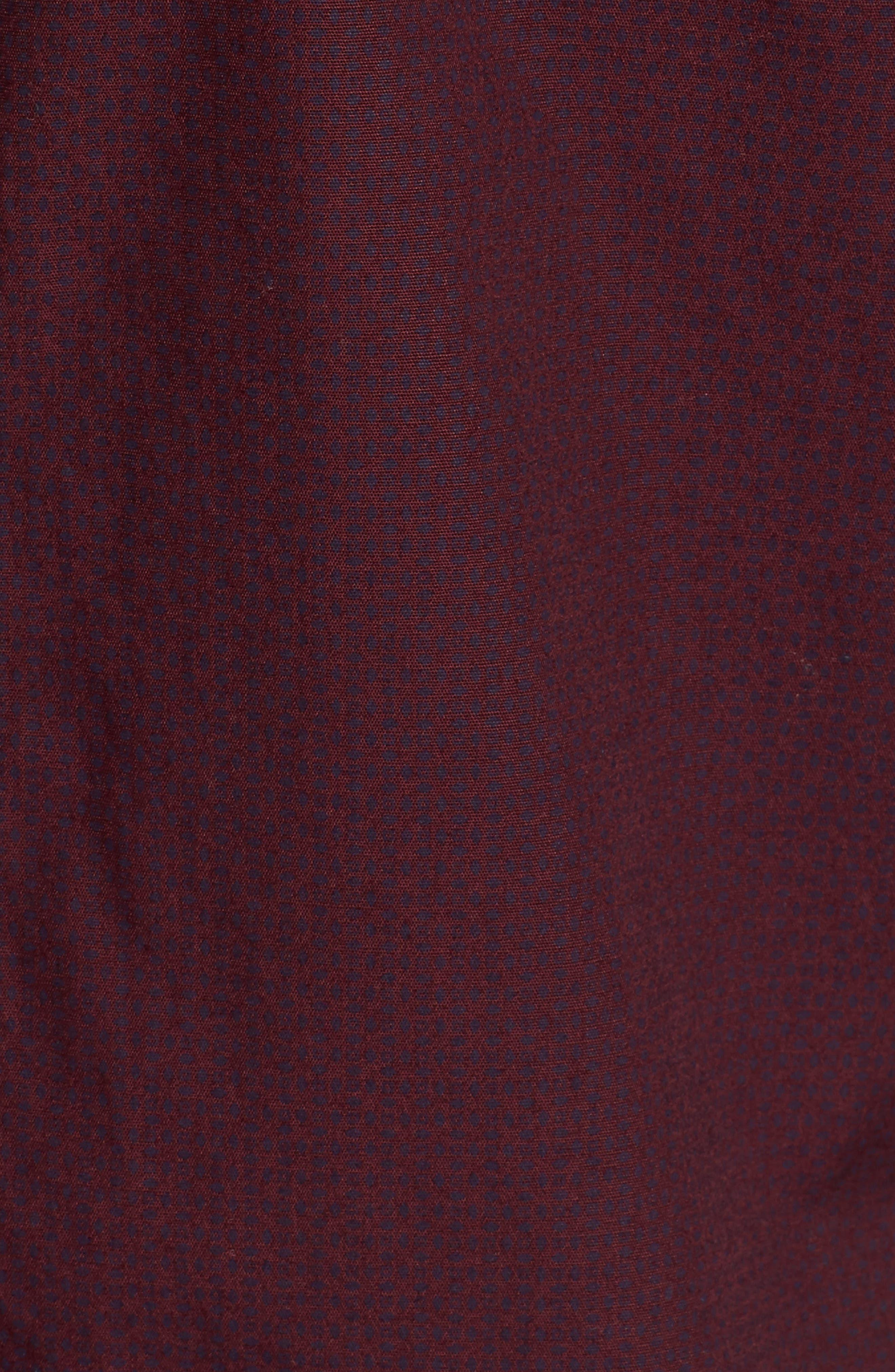 Micro Diamond Print Sport Shirt,                             Alternate thumbnail 5, color,                             Grape