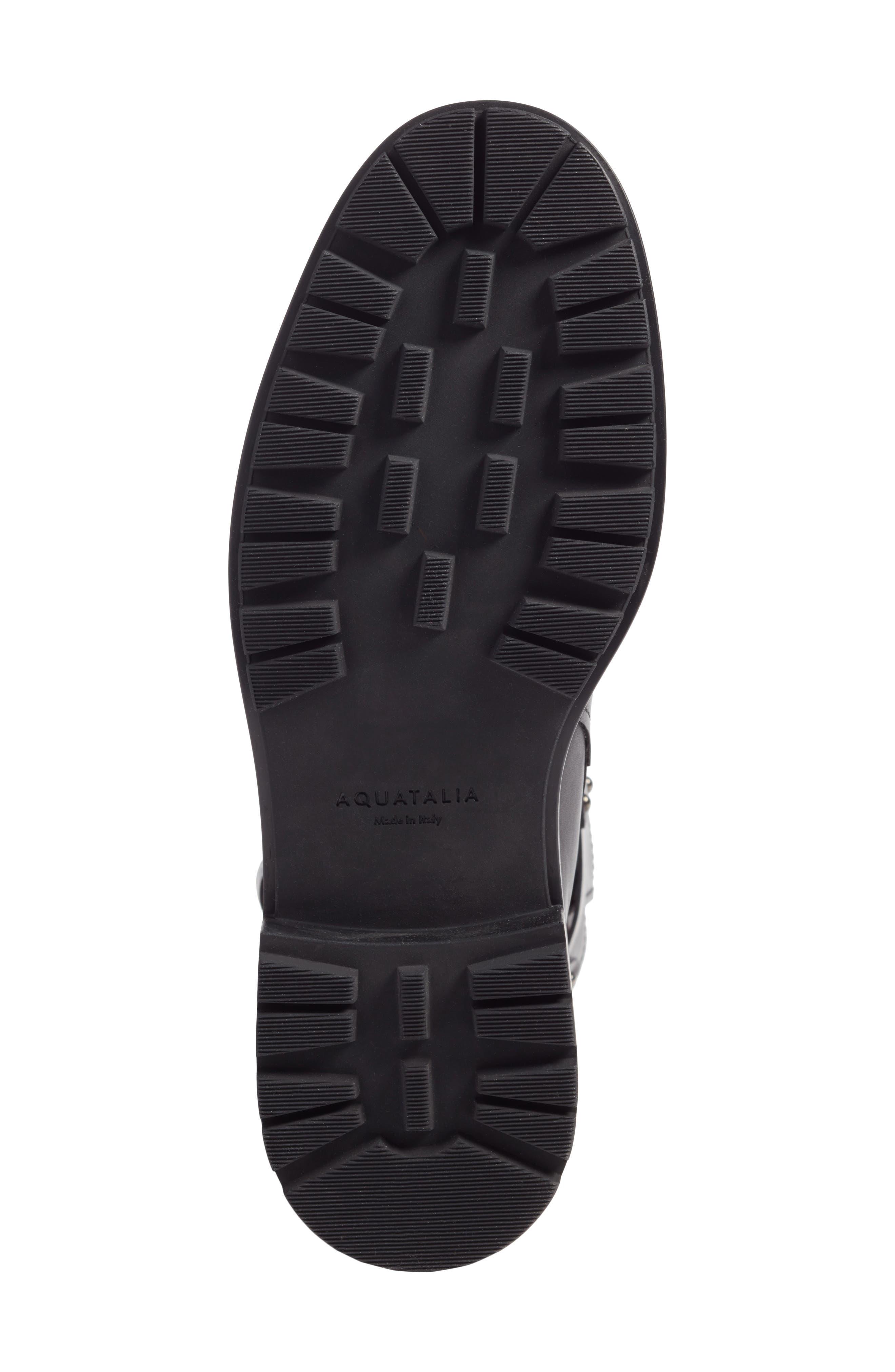 Leonie Weatherproof Leather Boot,                             Alternate thumbnail 7, color,                             Black Calf