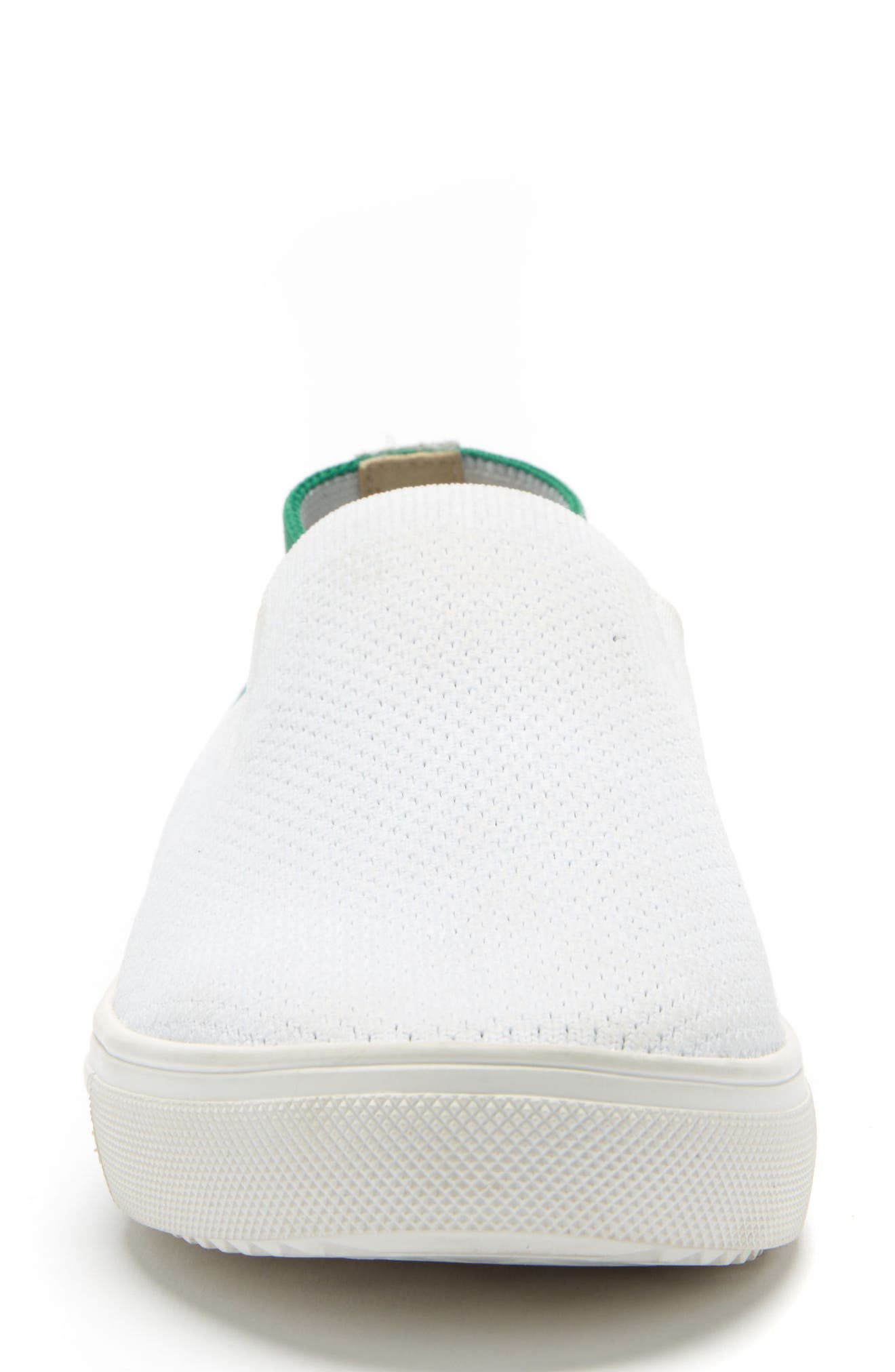 Gina Waterproof Sneaker,                             Alternate thumbnail 4, color,                             White And Green Fabric