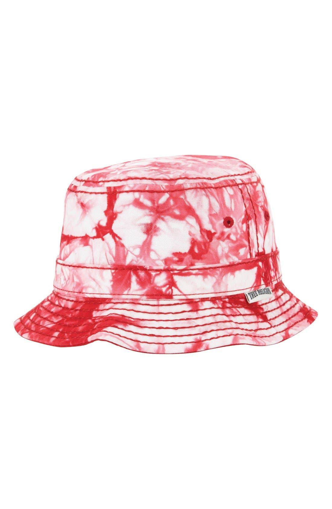 Marble Dye Bucket Hat,                         Main,                         color, True Red