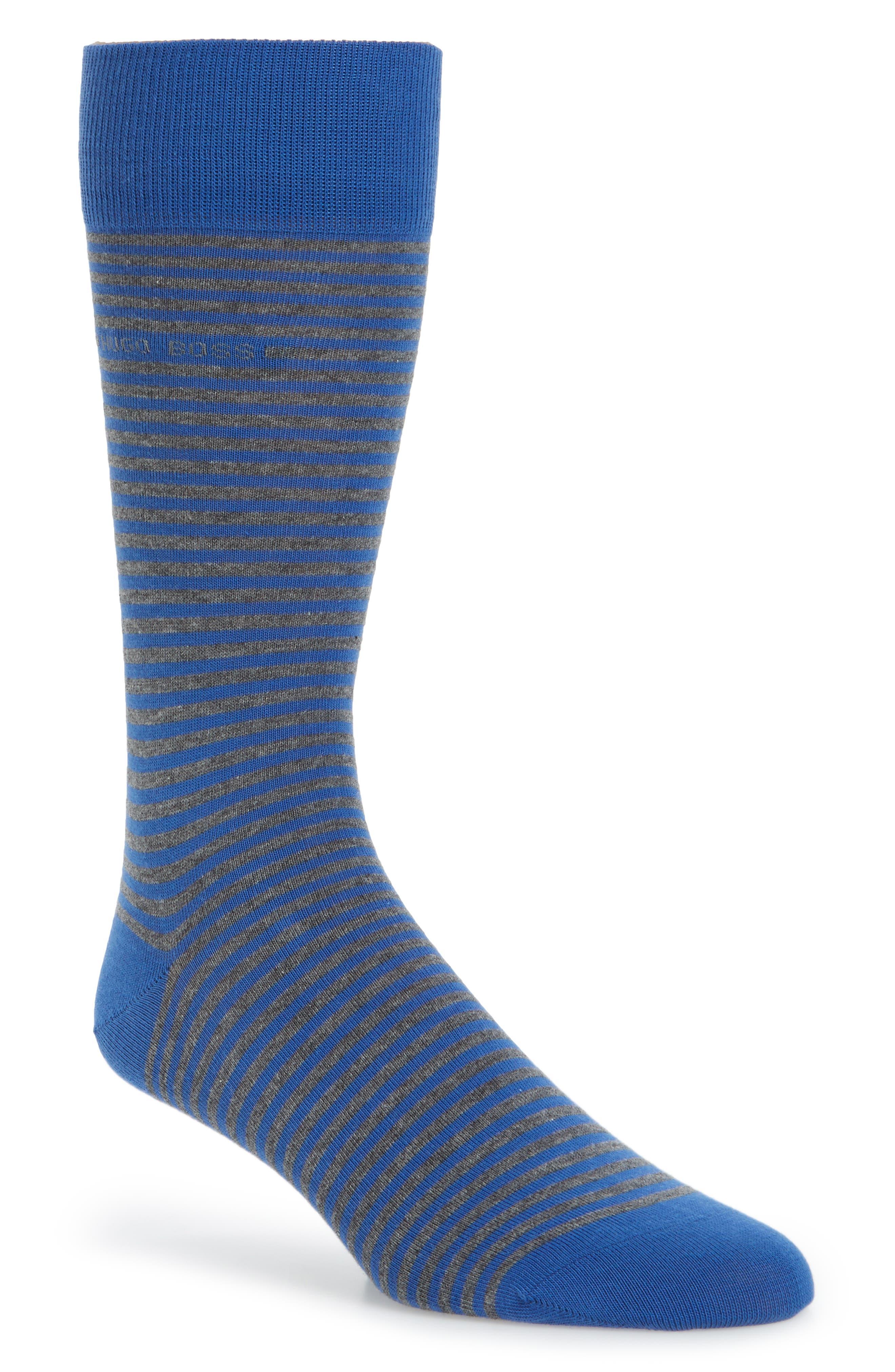 Main Image - BOSS Marc Stripe Crew Socks