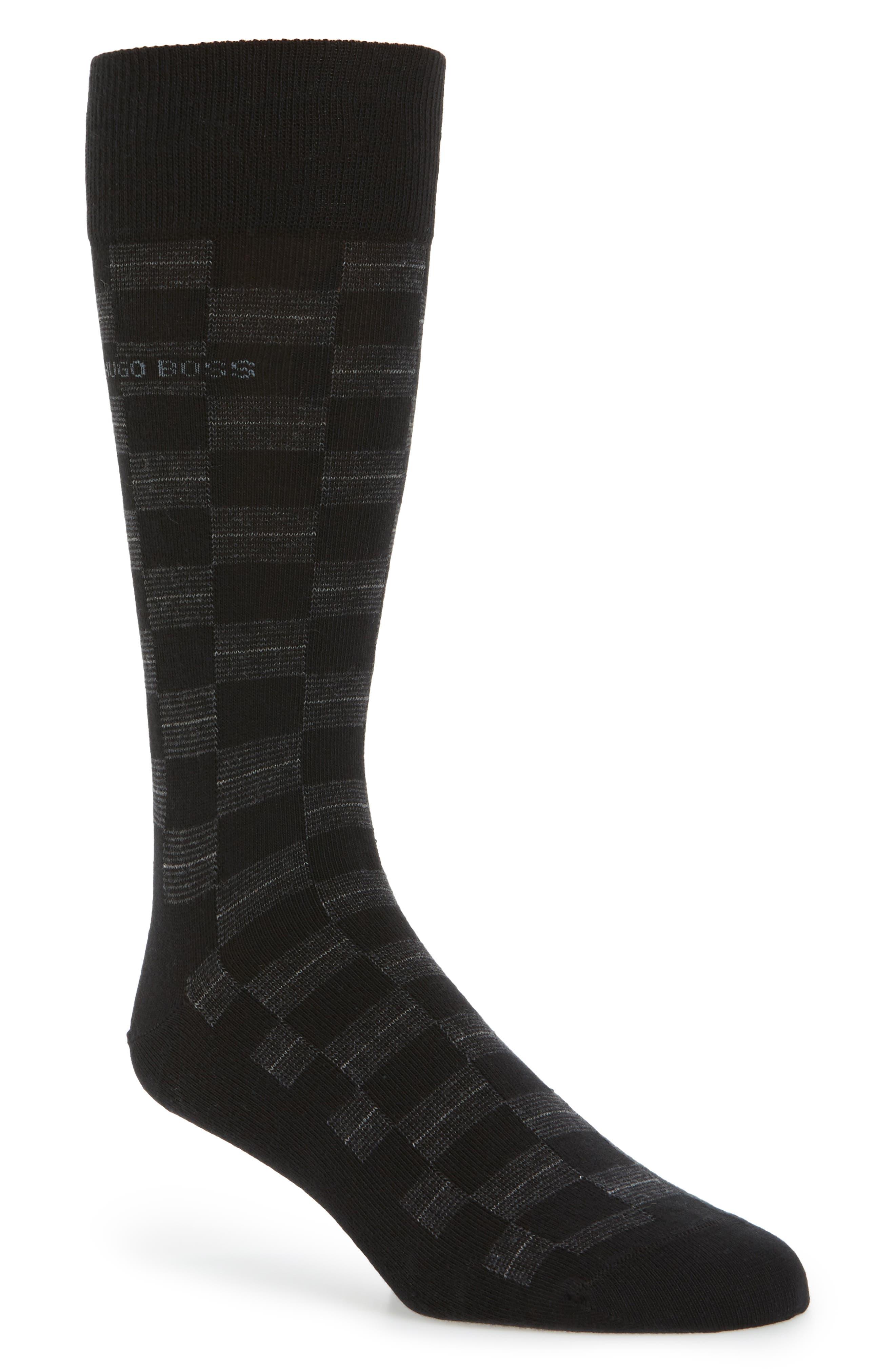Alternate Image 1 Selected - BOSS Check Socks