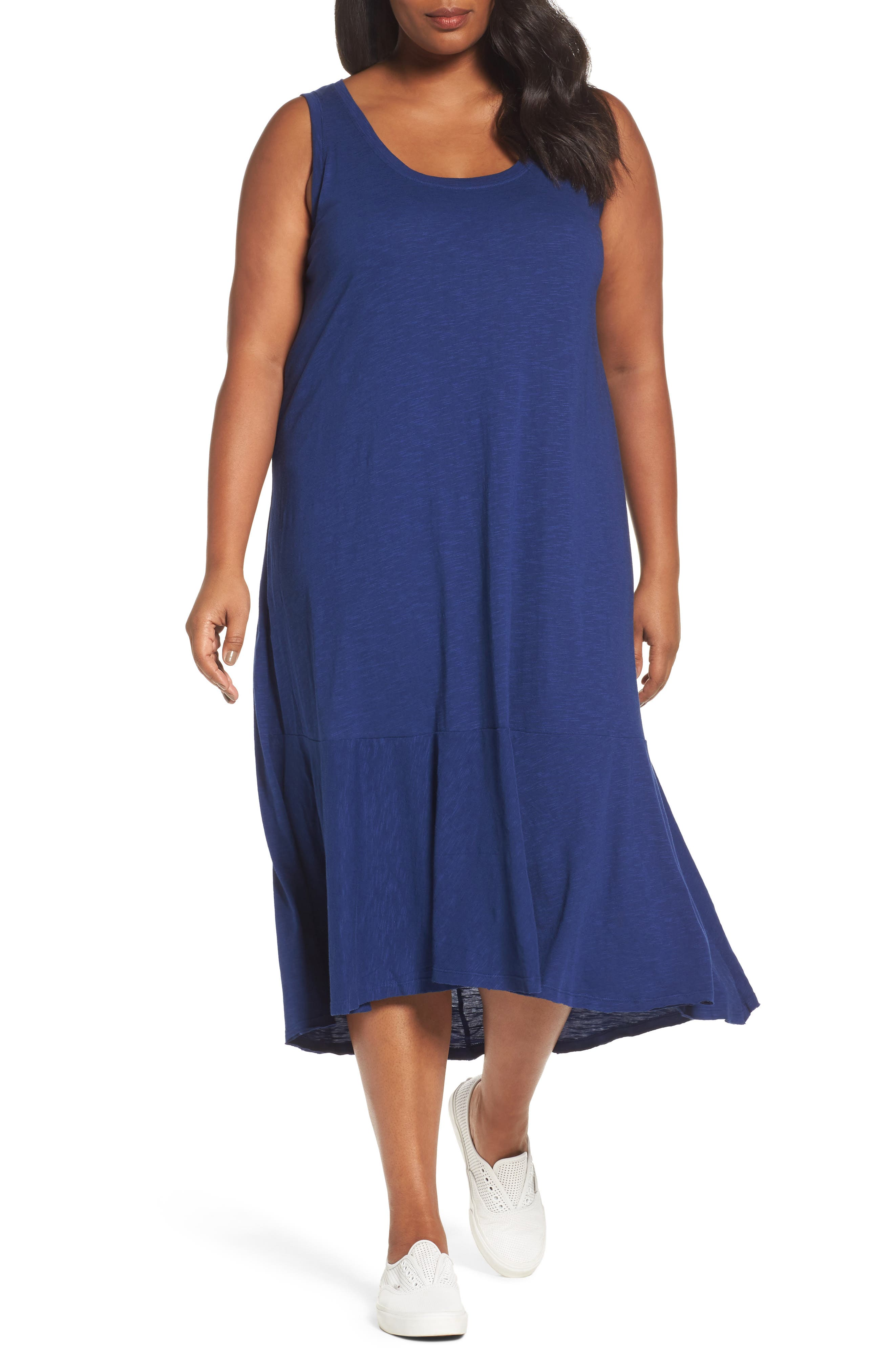 Main Image - Caslon® Drop Waist Jersey Dress (Plus Size)