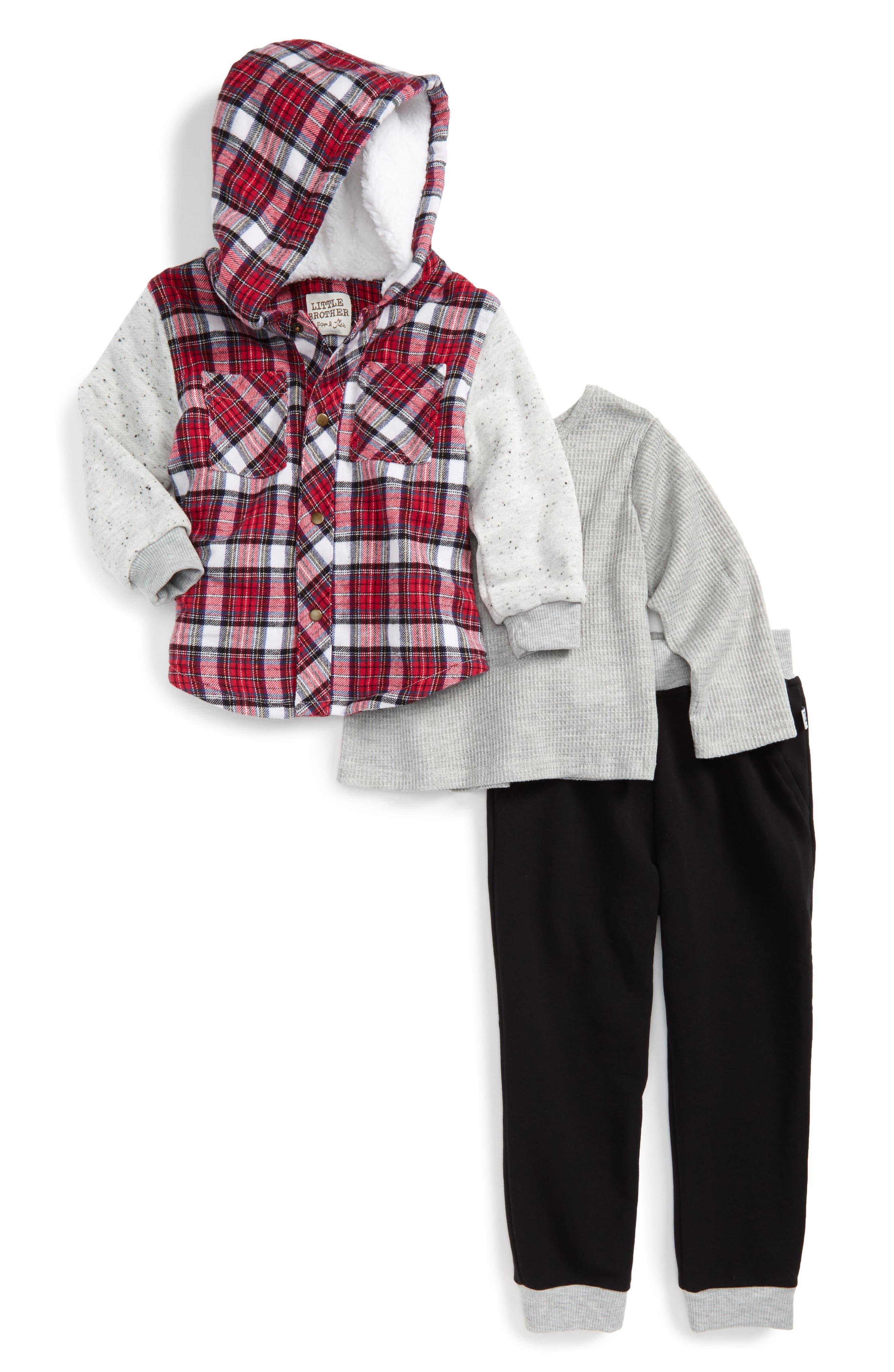Thermal Tee, Hoodie & Sweatpants,                         Main,                         color, Multi