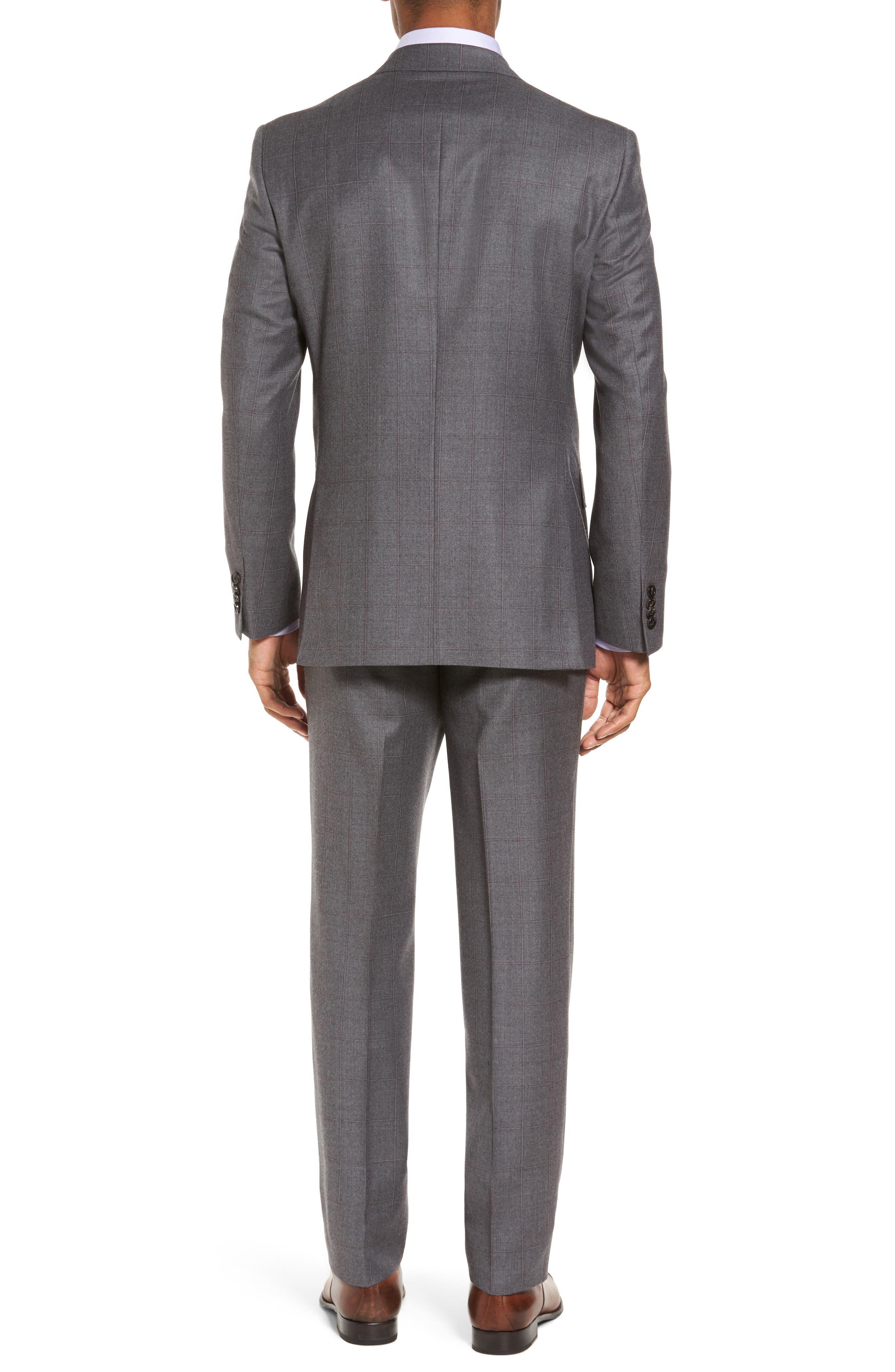 Alternate Image 2  - Ted Baker London Trim Fit Windowpane Wool Suit