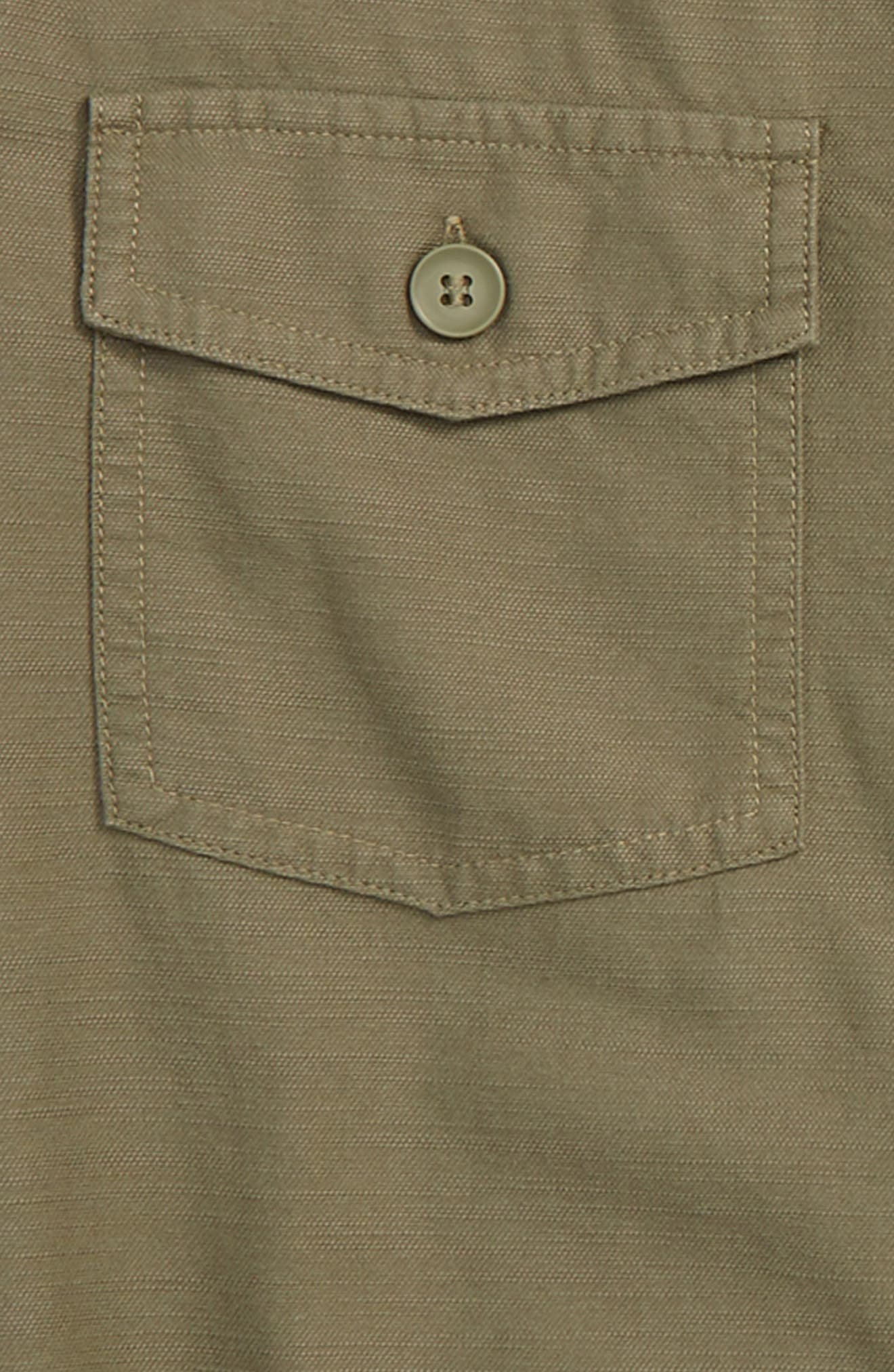 Utility Shirt,                             Alternate thumbnail 2, color,                             Olive Grove