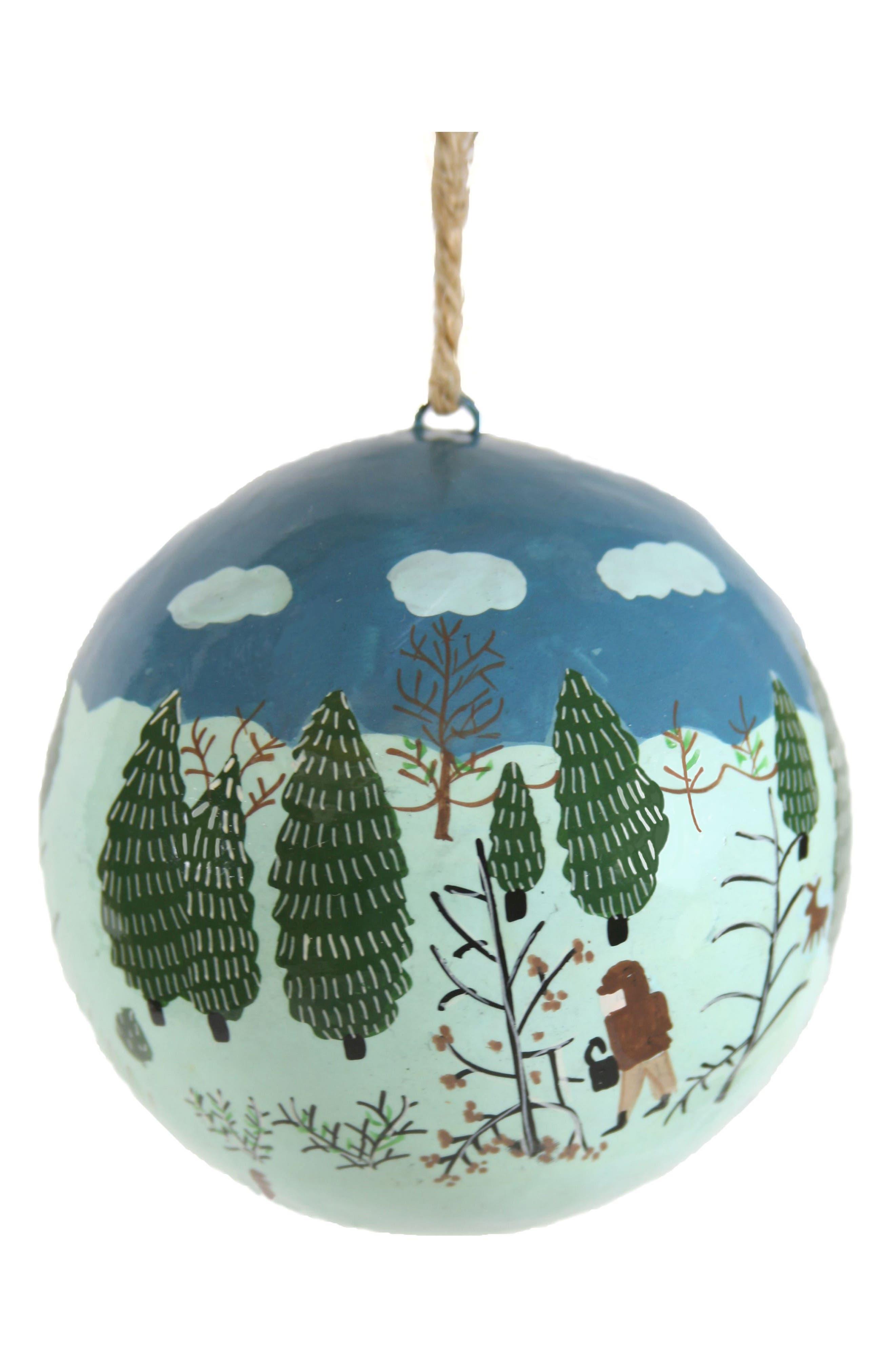 Alternate Image 1 Selected - Cody Foster Festively Folk Glass Ornament