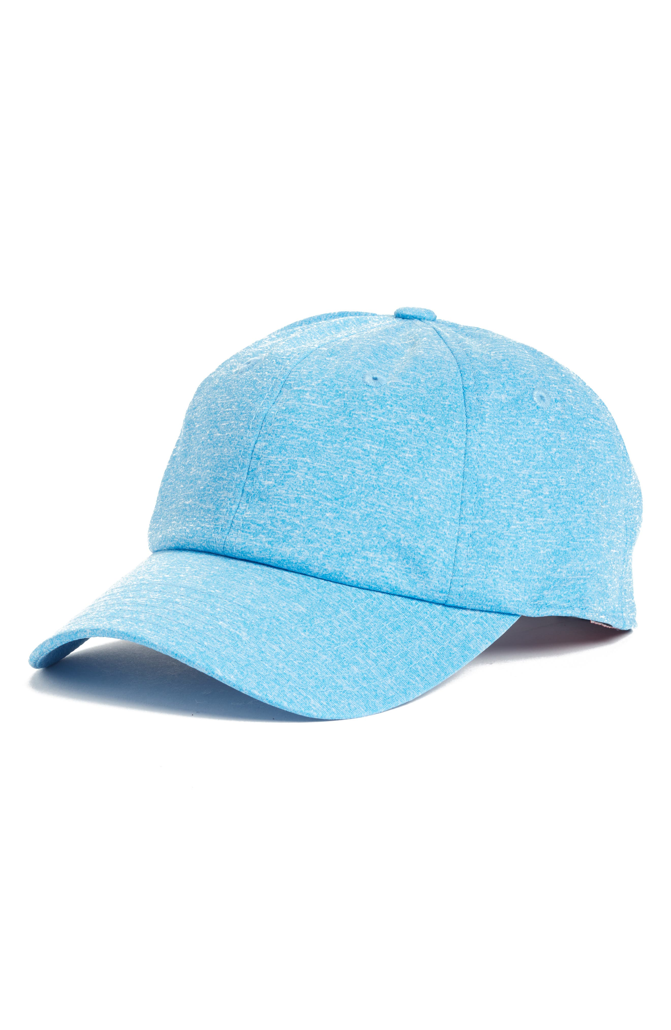 Heathered Tech Hat,                         Main,                         color, Blue