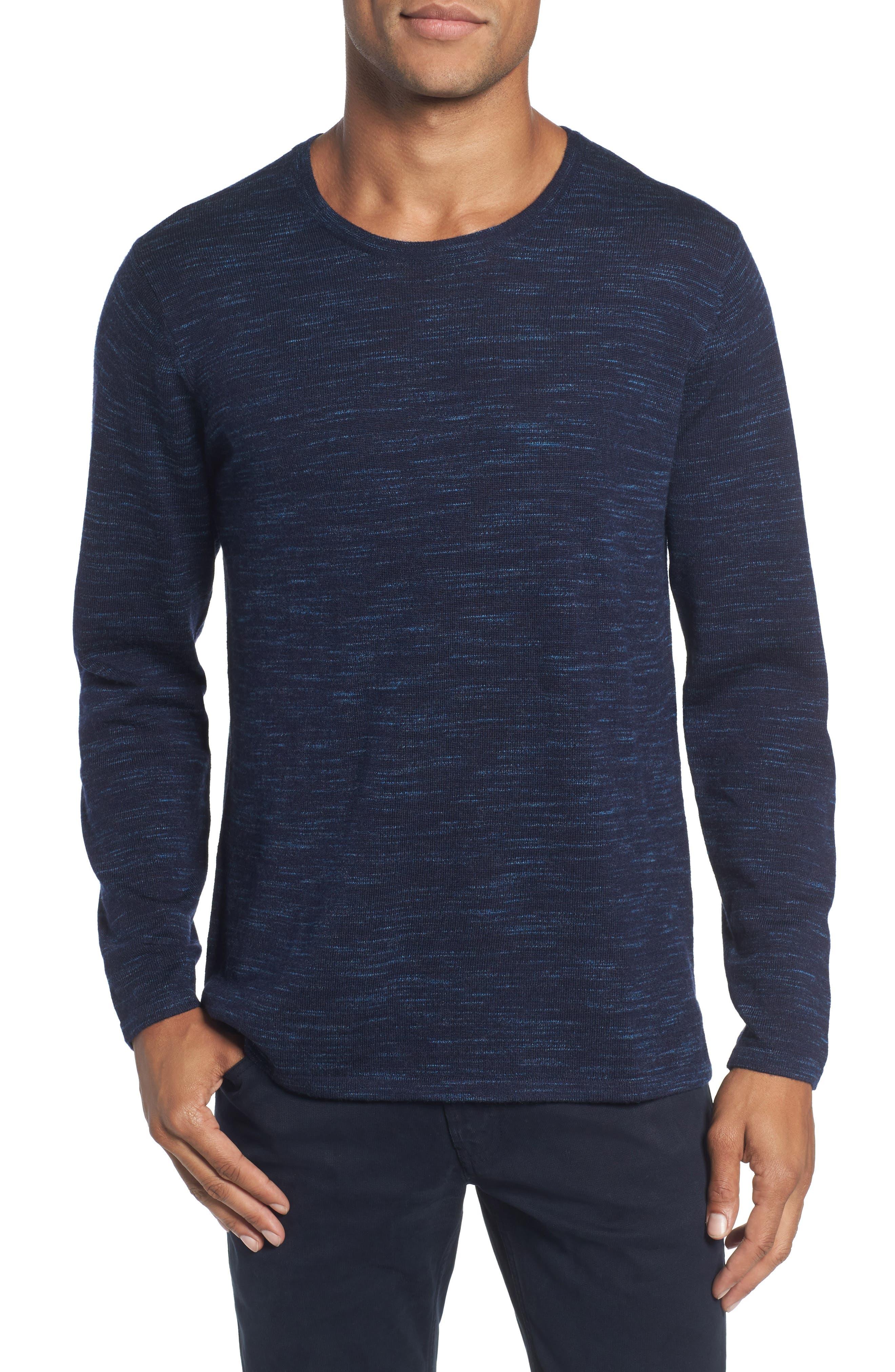 Merino Wool T-Shirt,                         Main,                         color, Stridden Blazer