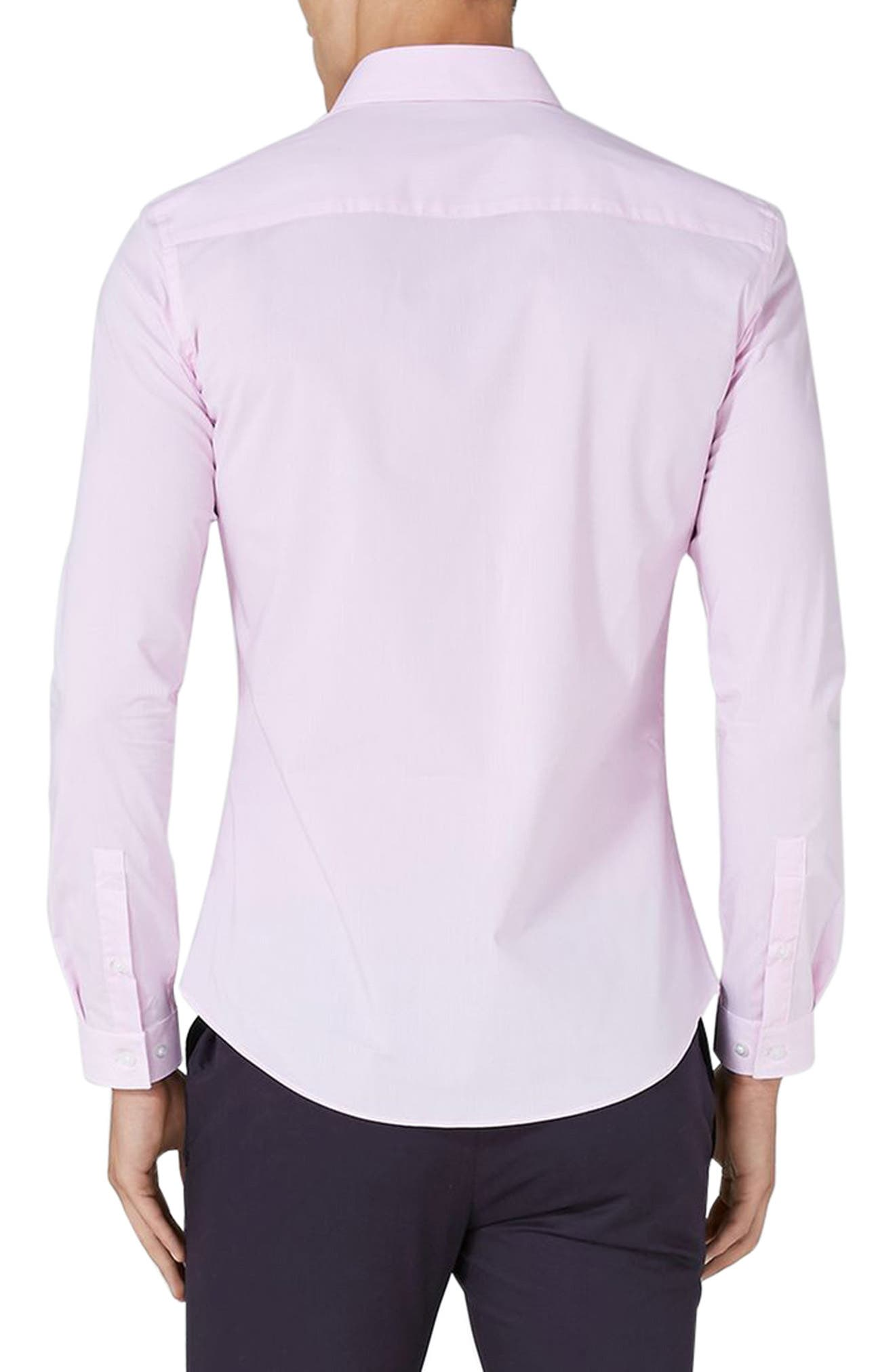 Muscle Fit Smart Shirt,                             Alternate thumbnail 3, color,                             Pink Multi