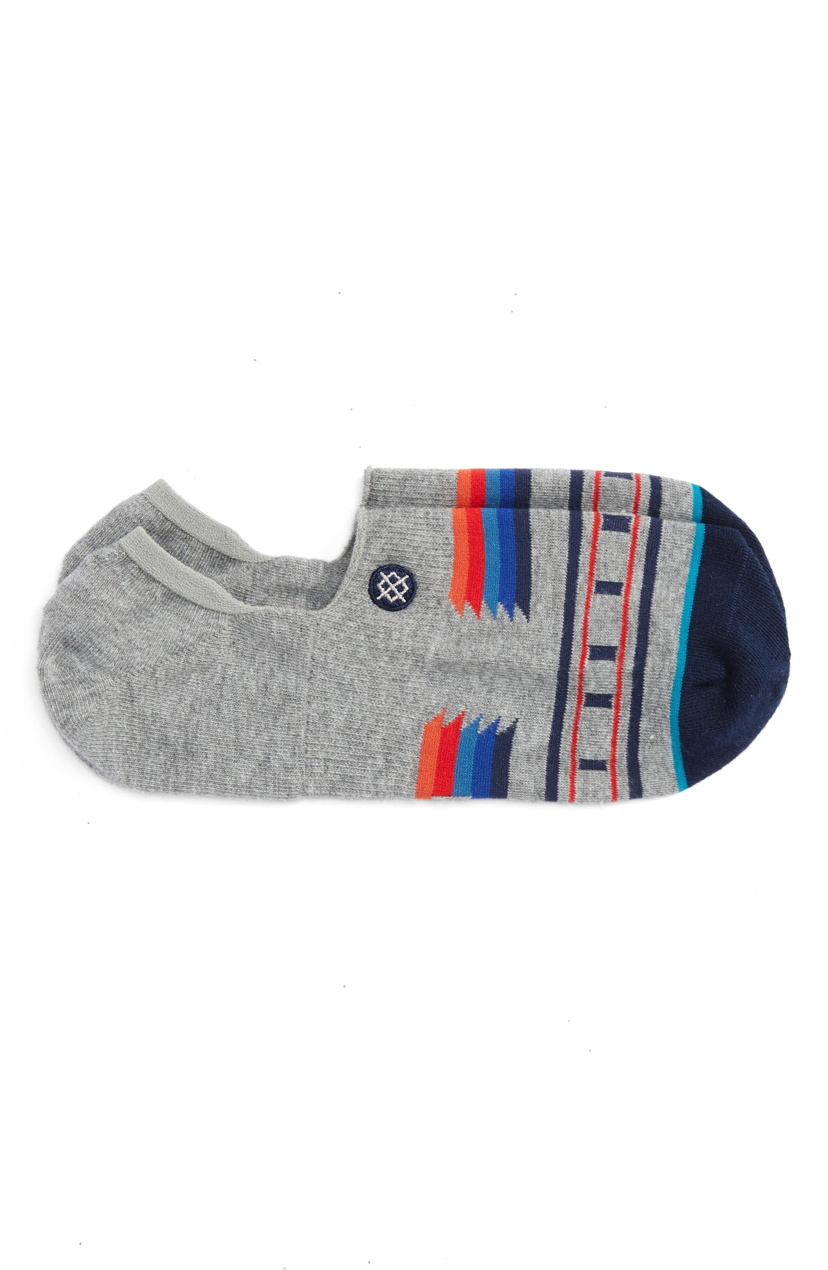 Alum No-Show Socks,                         Main,                         color, Grey