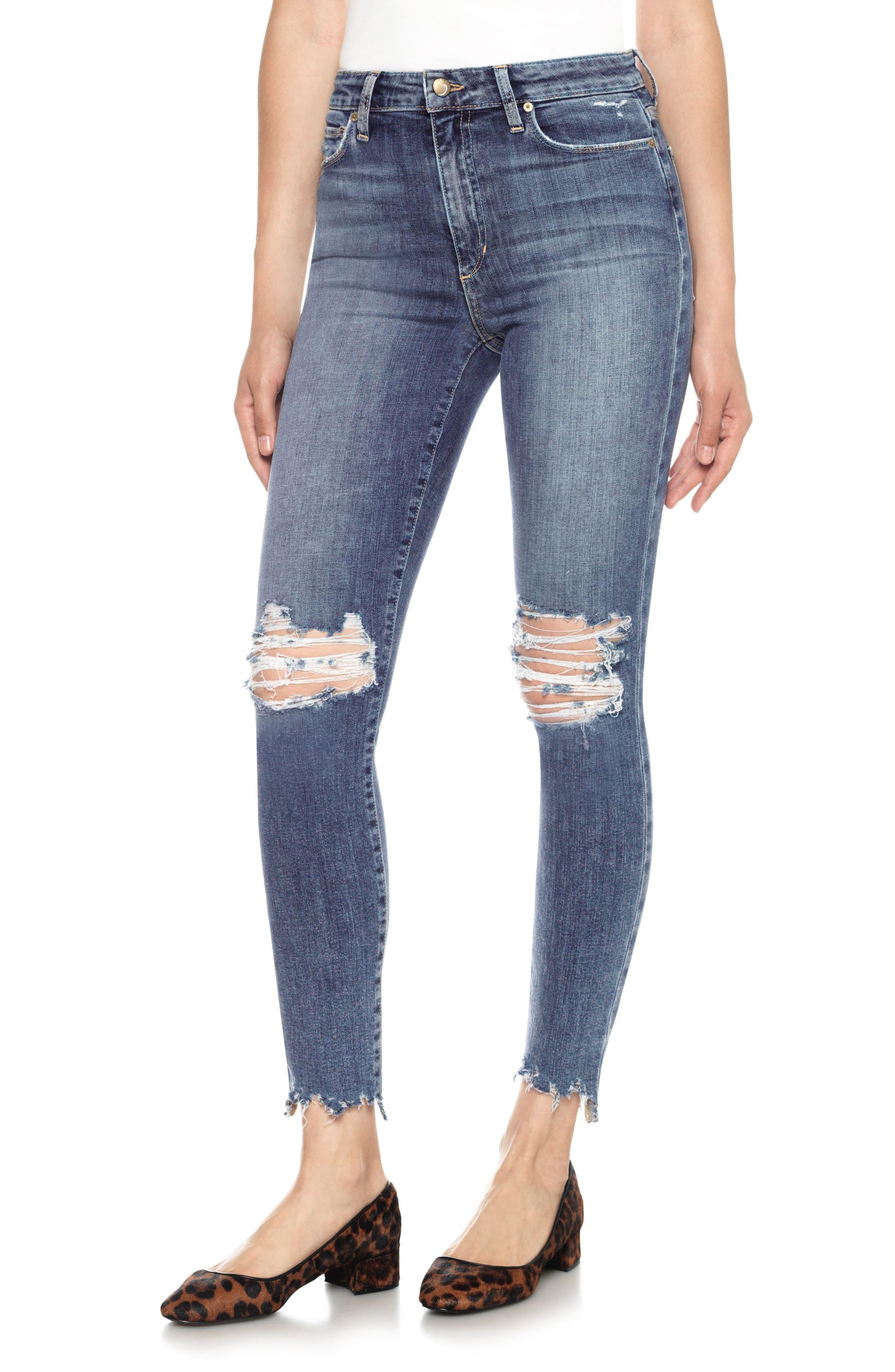 Charlie High Waist Ankle Skinny Jeans,                         Main,                         color, Lonnie