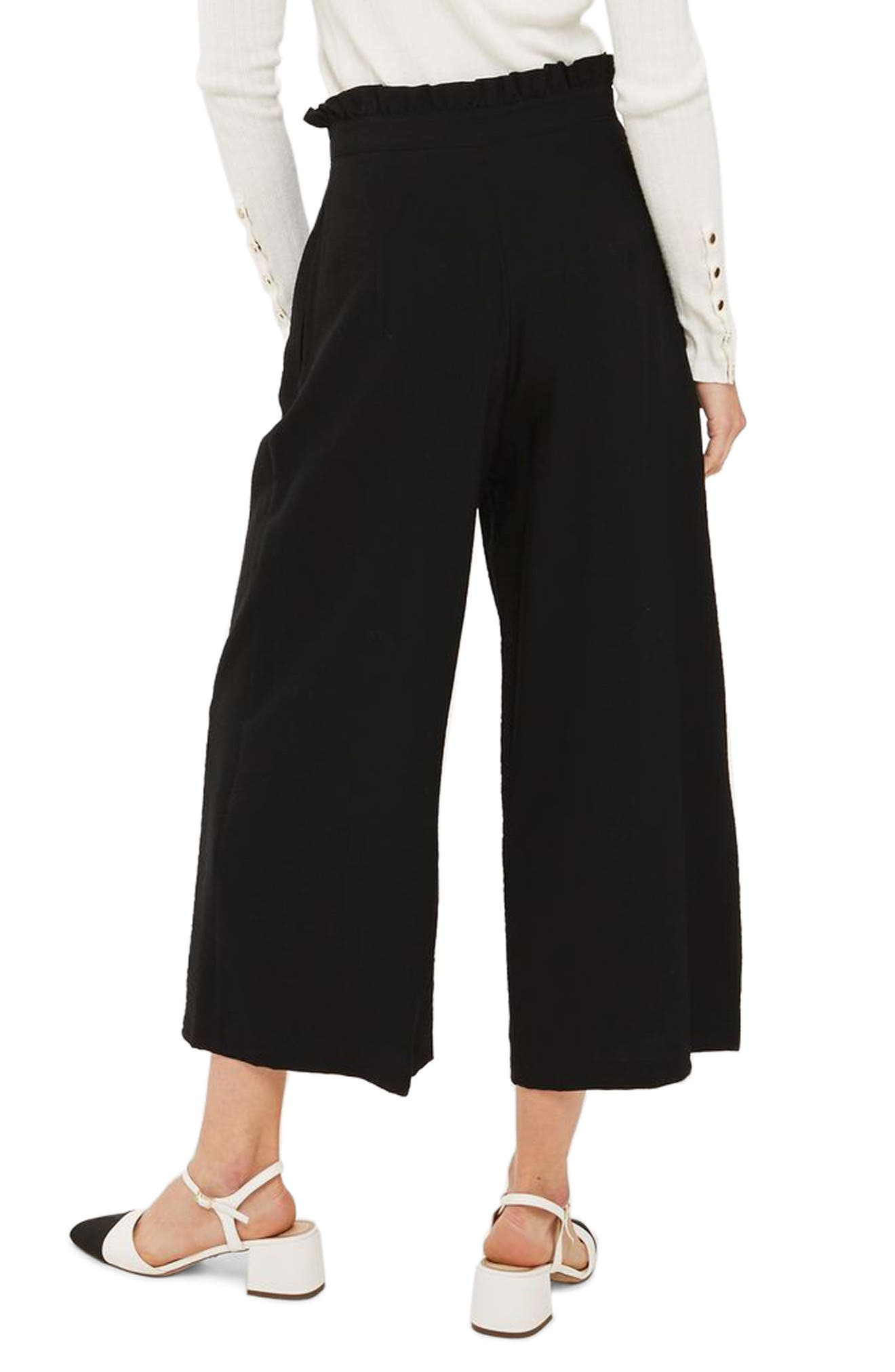 Alternate Image 2  - Topshop Ruffle Waist Trousers