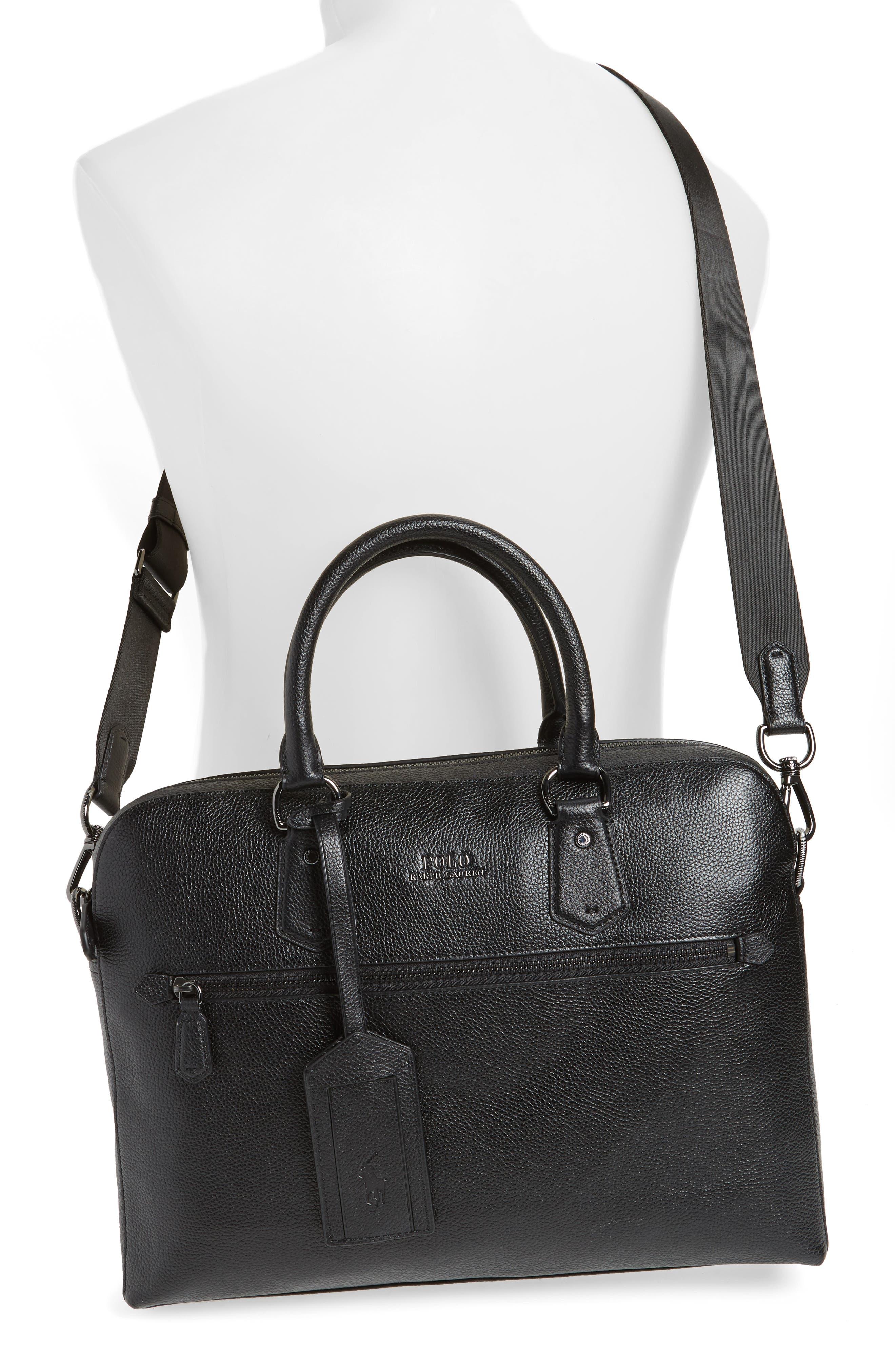 Commuter Leather Briefcase,                             Alternate thumbnail 2, color,                             Black