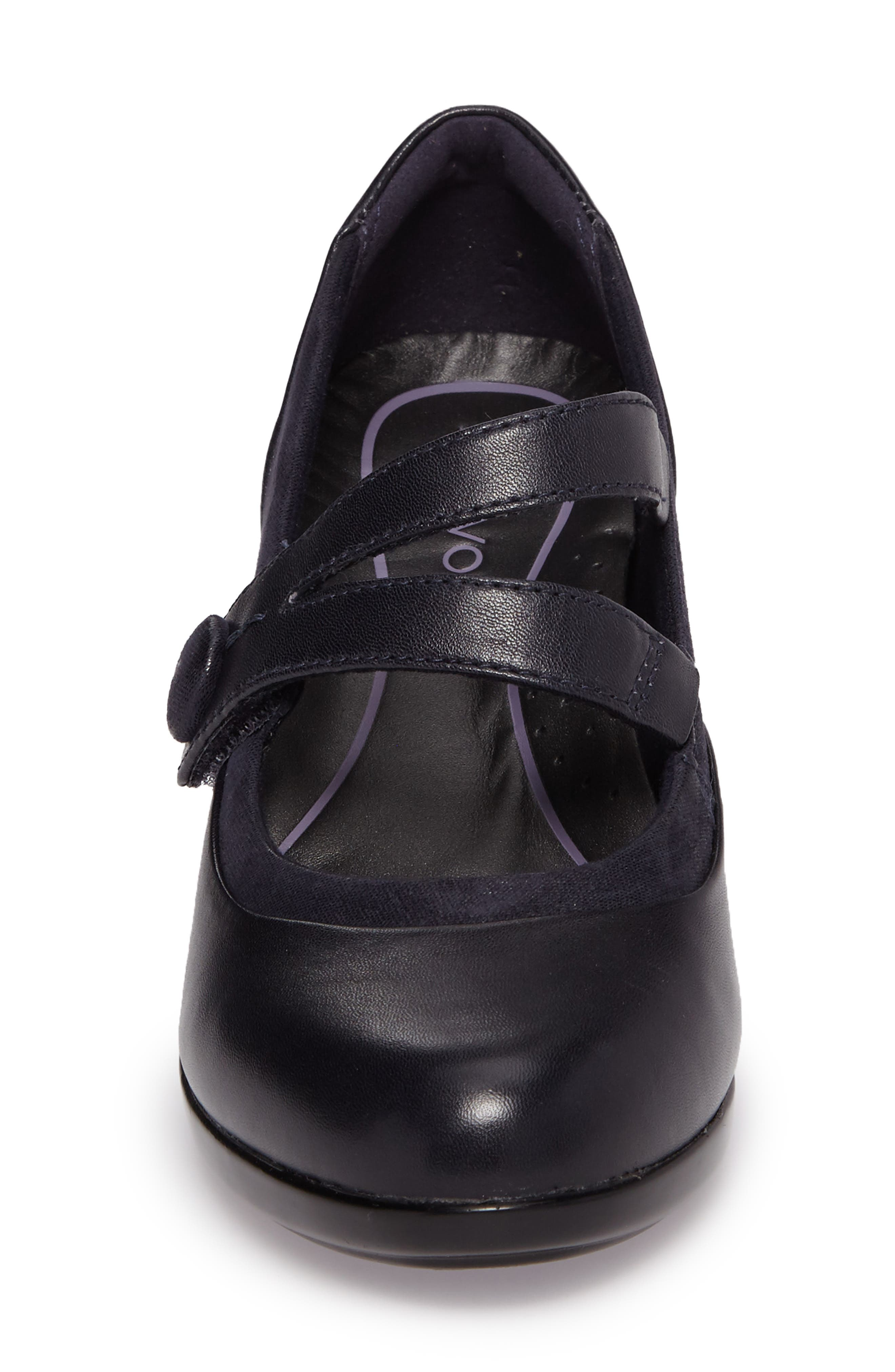 Lexee Mary Jane Pump,                             Alternate thumbnail 4, color,                             Navy Leather
