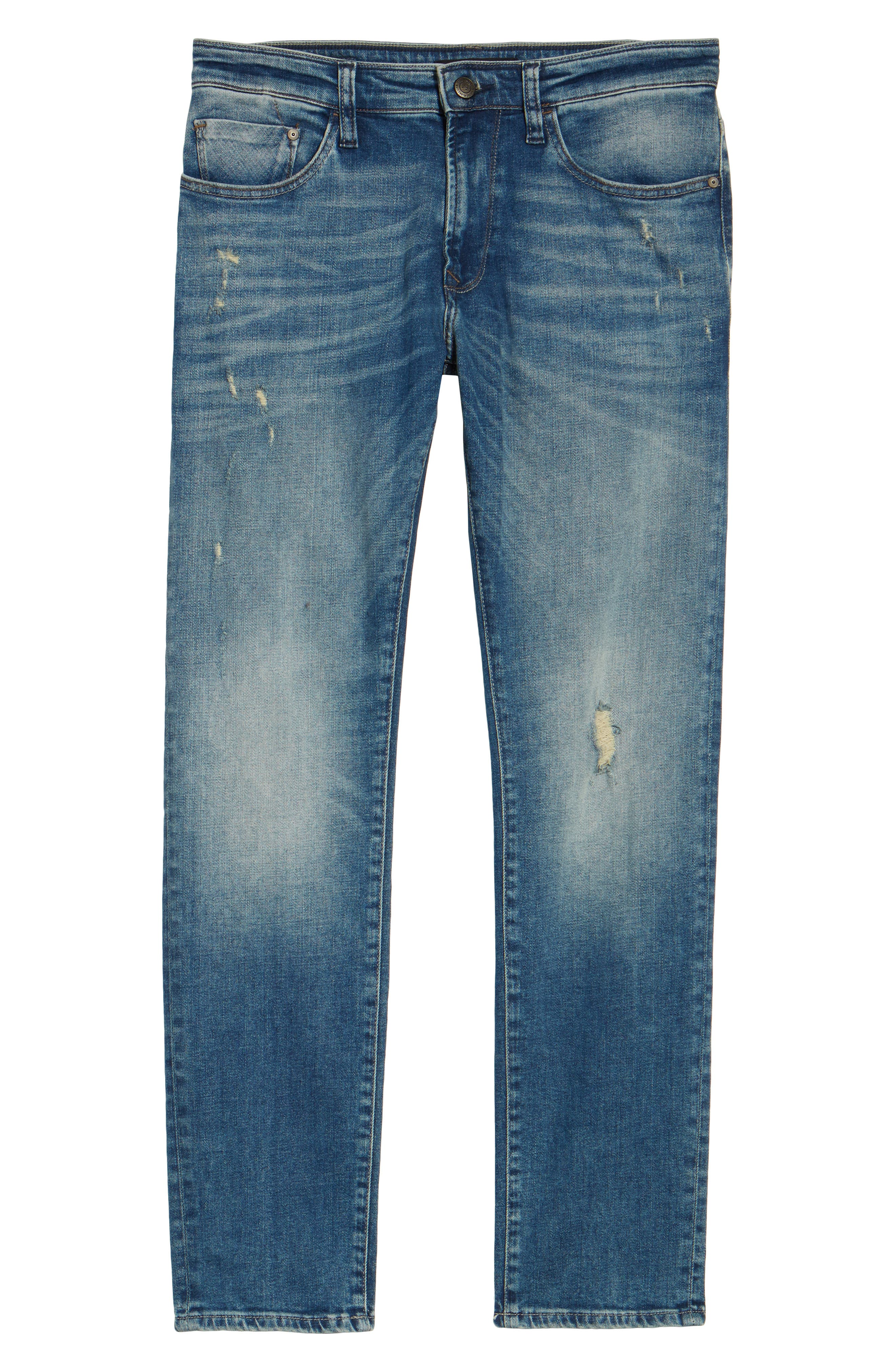 Alternate Image 6  - Mavi Jeans Jake Easy Slim Fit Jeans (Mid Ripped Authentic Vintage)