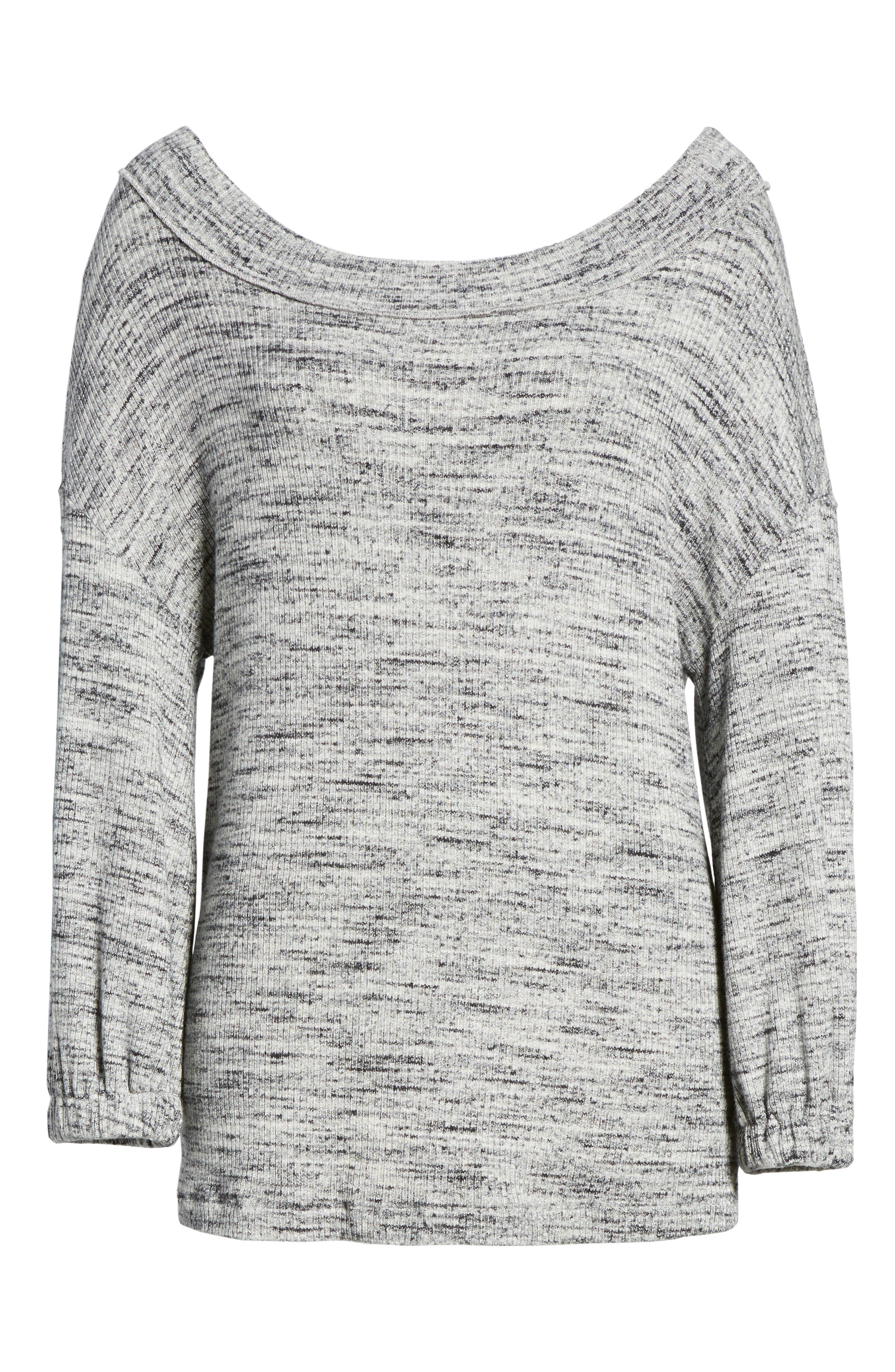 Triblend Ribbed Top,                             Alternate thumbnail 6, color,                             Heather Grey