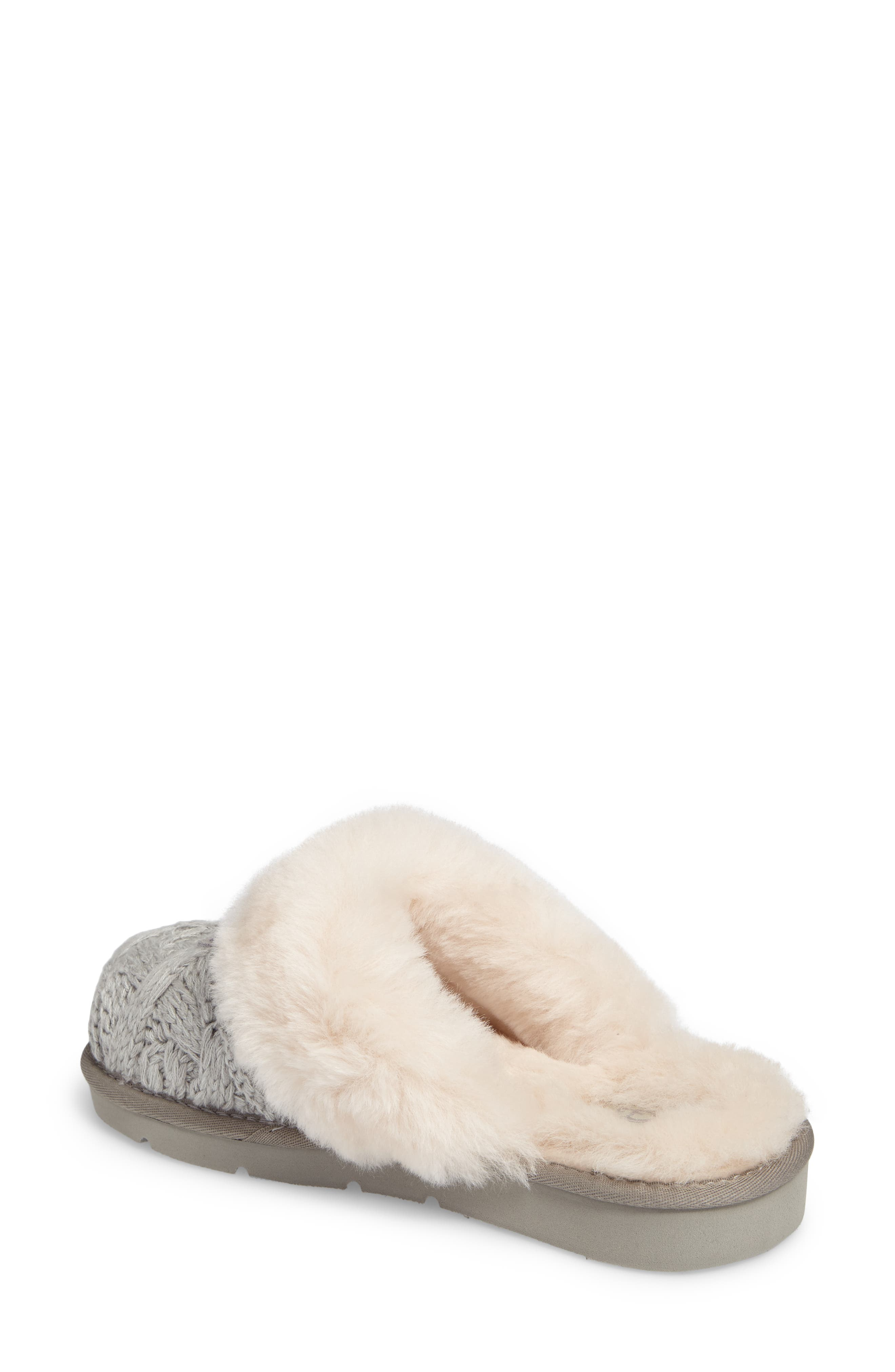 Cozy Cable Slipper,                             Alternate thumbnail 3, color,                             Seal Fabric