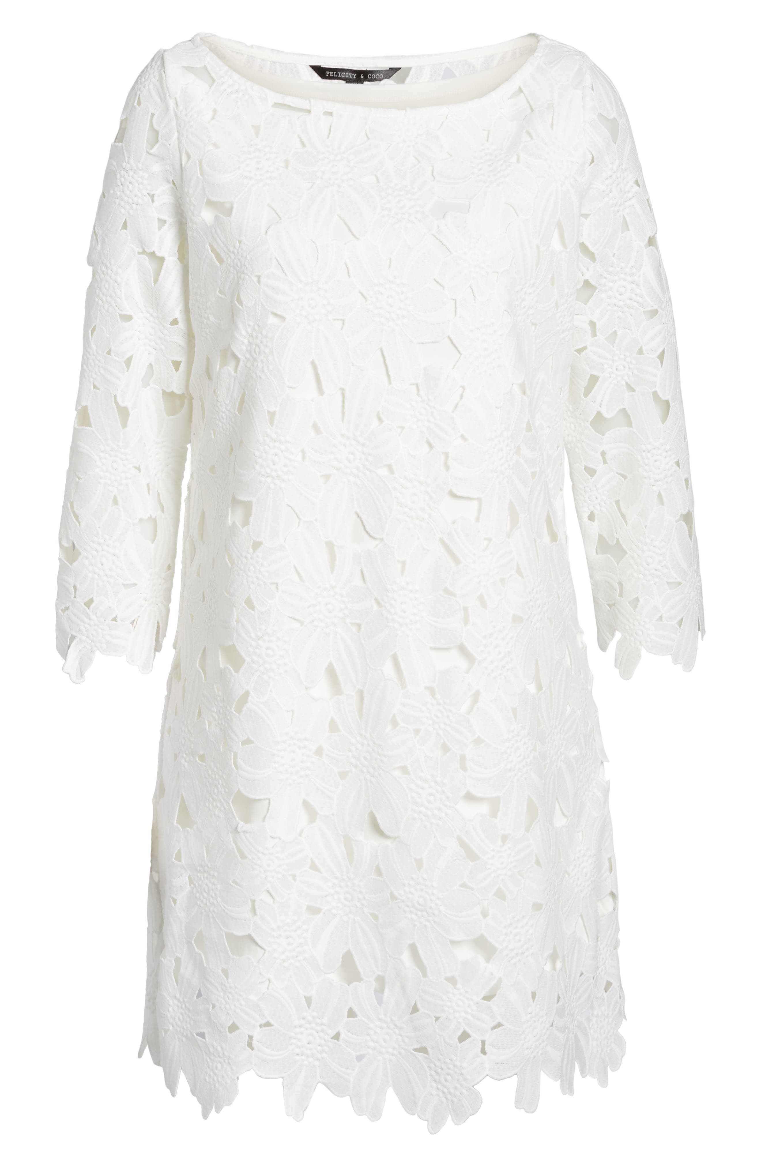 Alternate Image 5  - Felicity & Coco Belza Floral Lace Shift Dress (Nordstrom Exclusive)