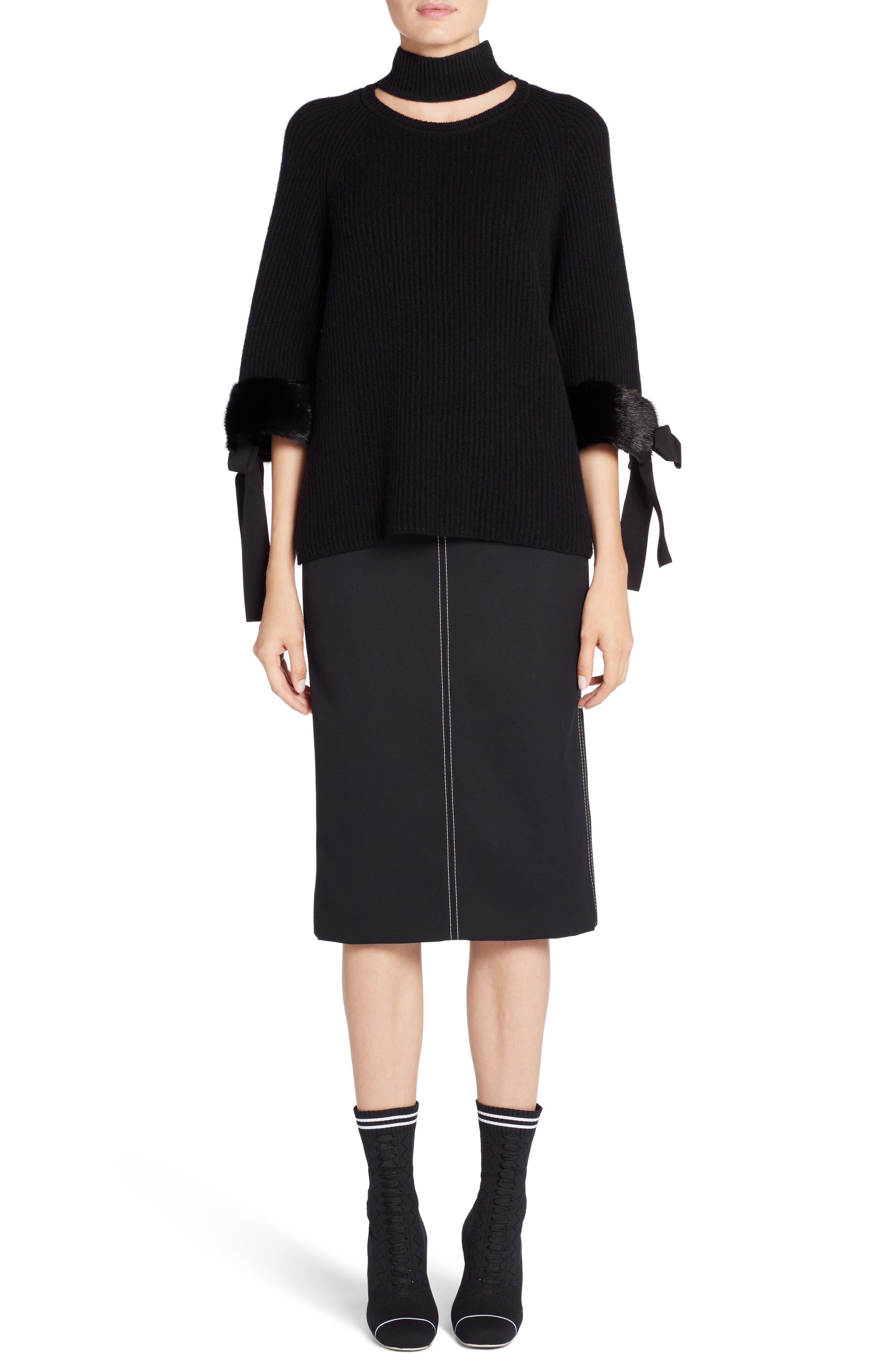 Alternate Image 6  - Fendi Cashmere & Genuine Mink Fur Sweater