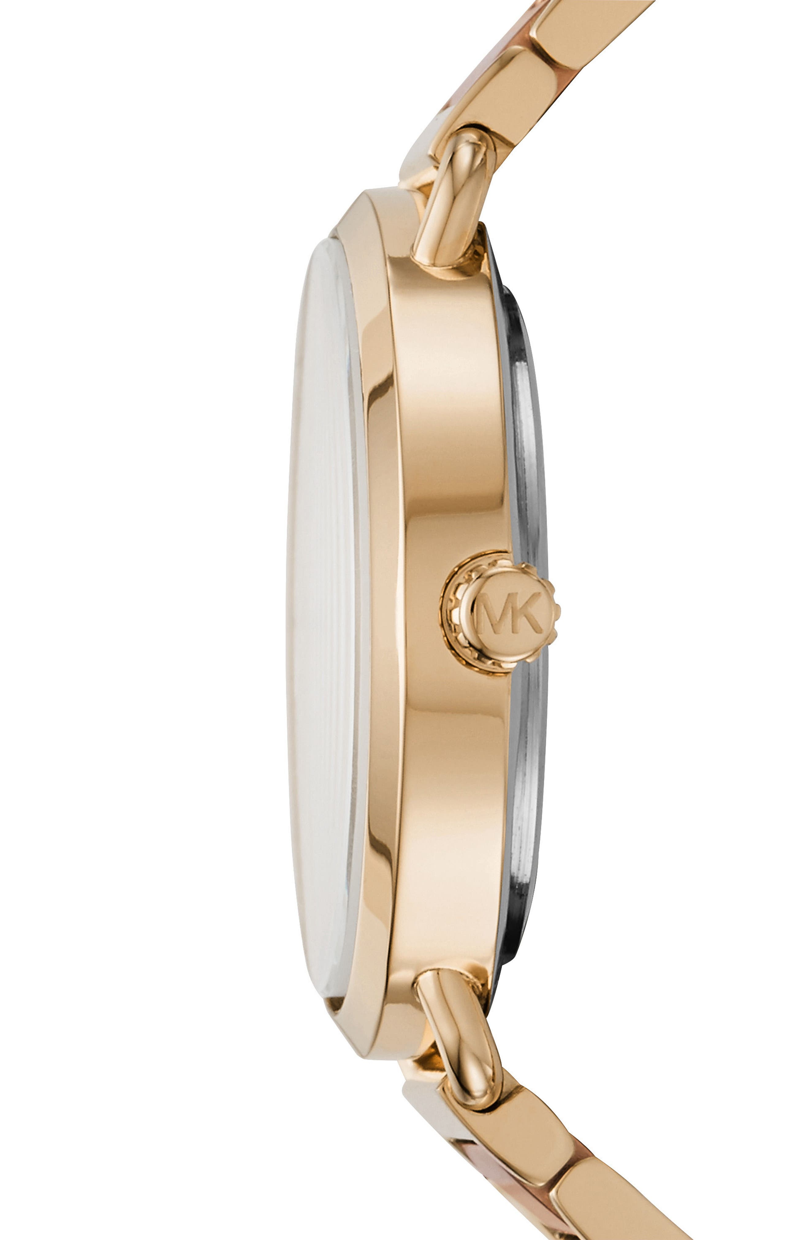 Portia Round Bracelet Watch, 36.5mm,                             Alternate thumbnail 2, color,                             Gold/ Rose Gold/ Gold