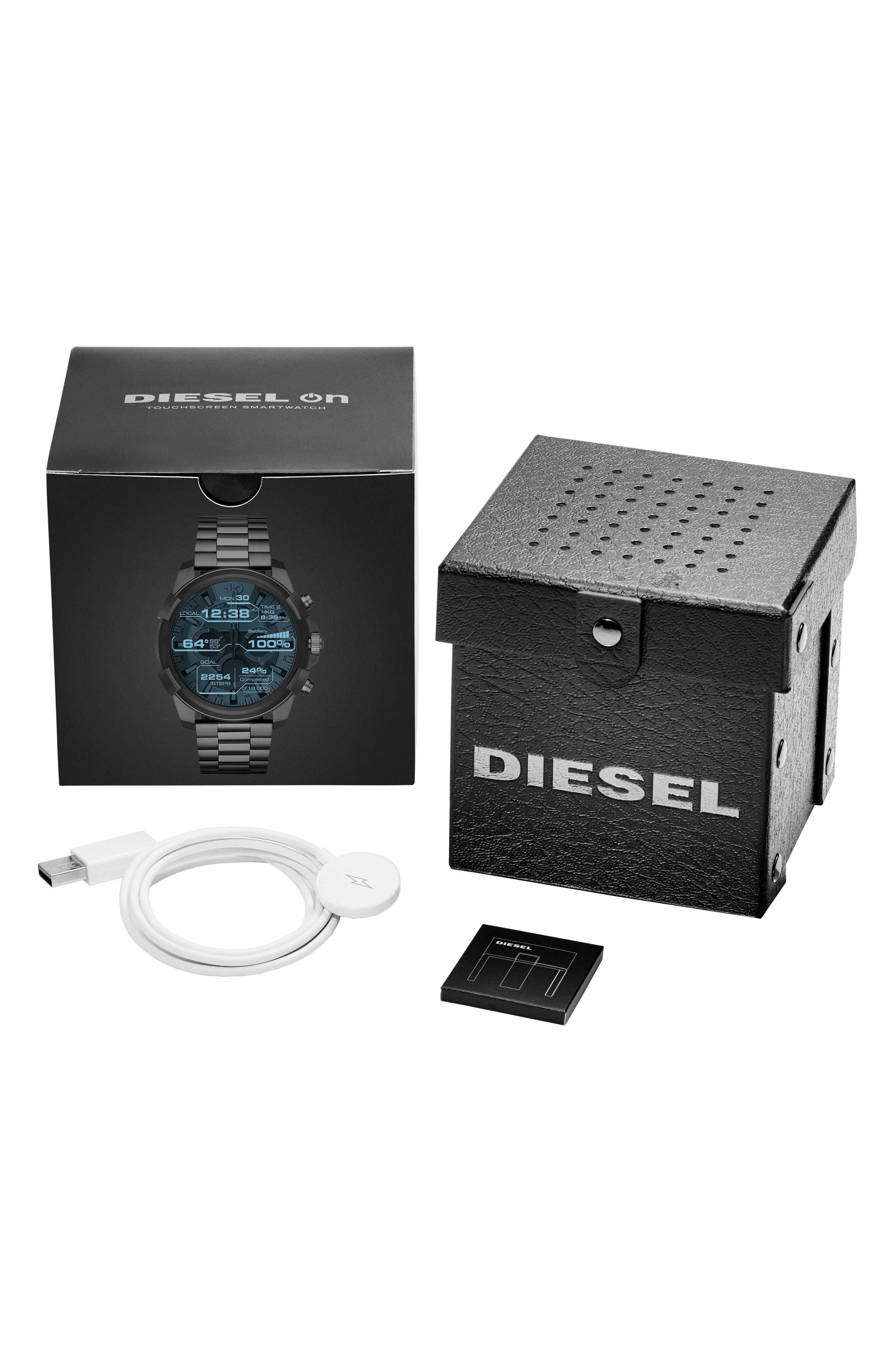 Alternate Image 4  - DIESEL® Full Guard Touchscreen Bracelet Smartwatch, 48mm x 54mm