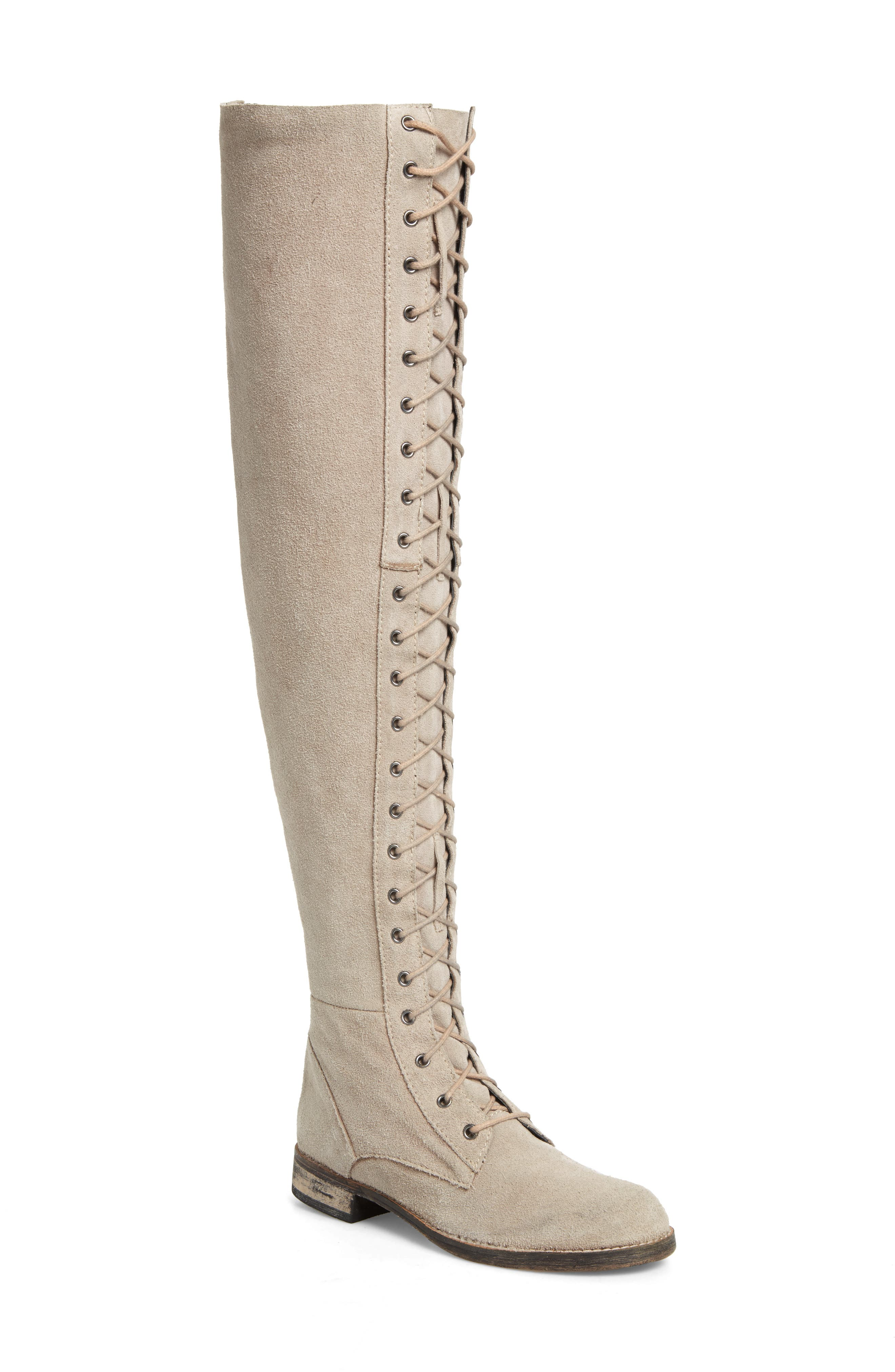 Alternate Image 1 Selected - Free People Tennessee Over the Knee Boot (Women)